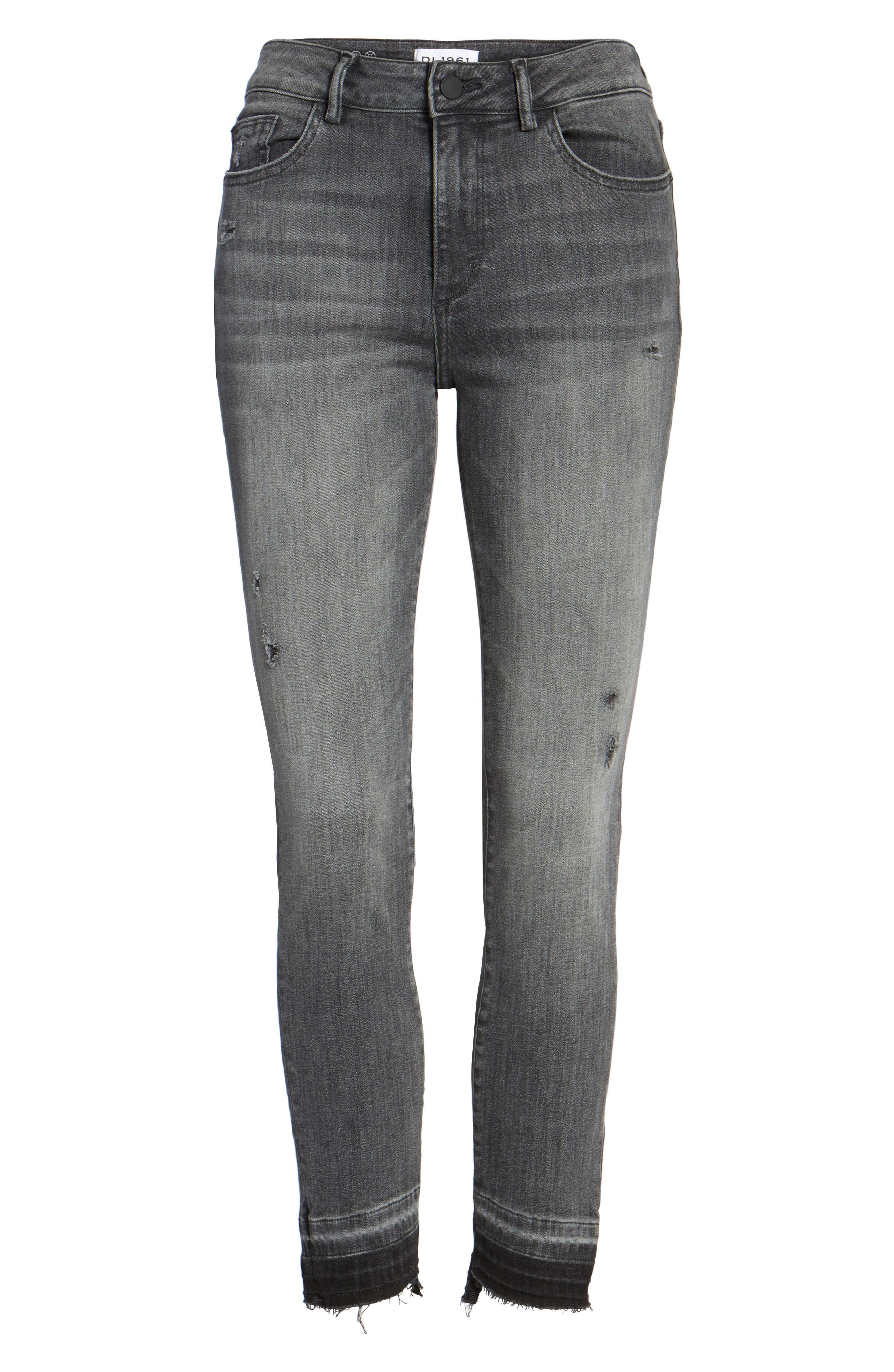 Margaux Instasculpt Ankle Skinny Jeans,                             Alternate thumbnail 7, color,                             DRIZZLE