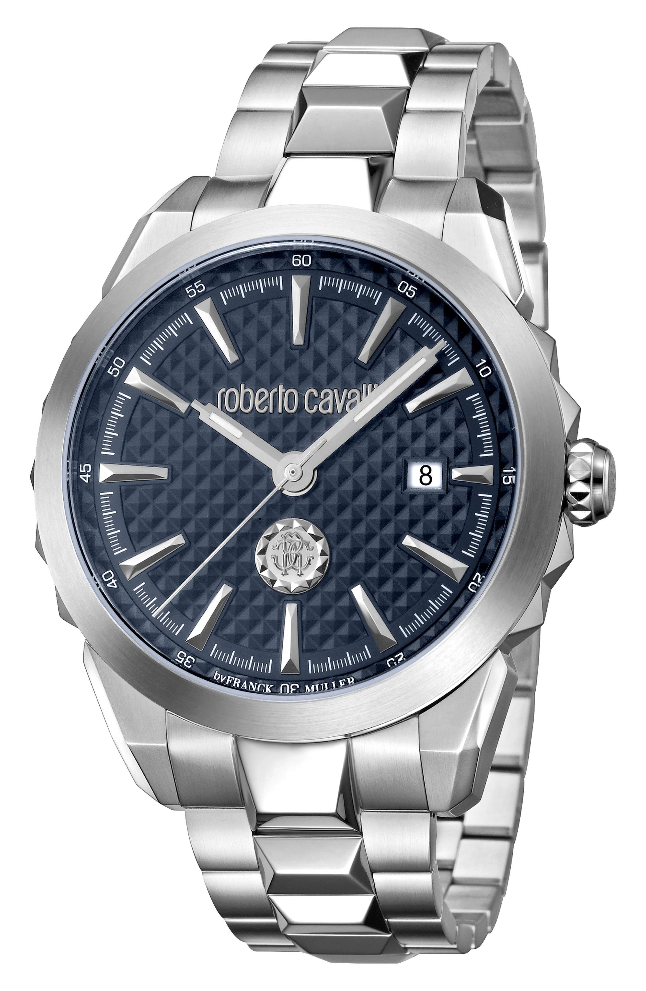 Costellato Bracelet Watch,                             Main thumbnail 1, color,                             SILVER/ BLUE