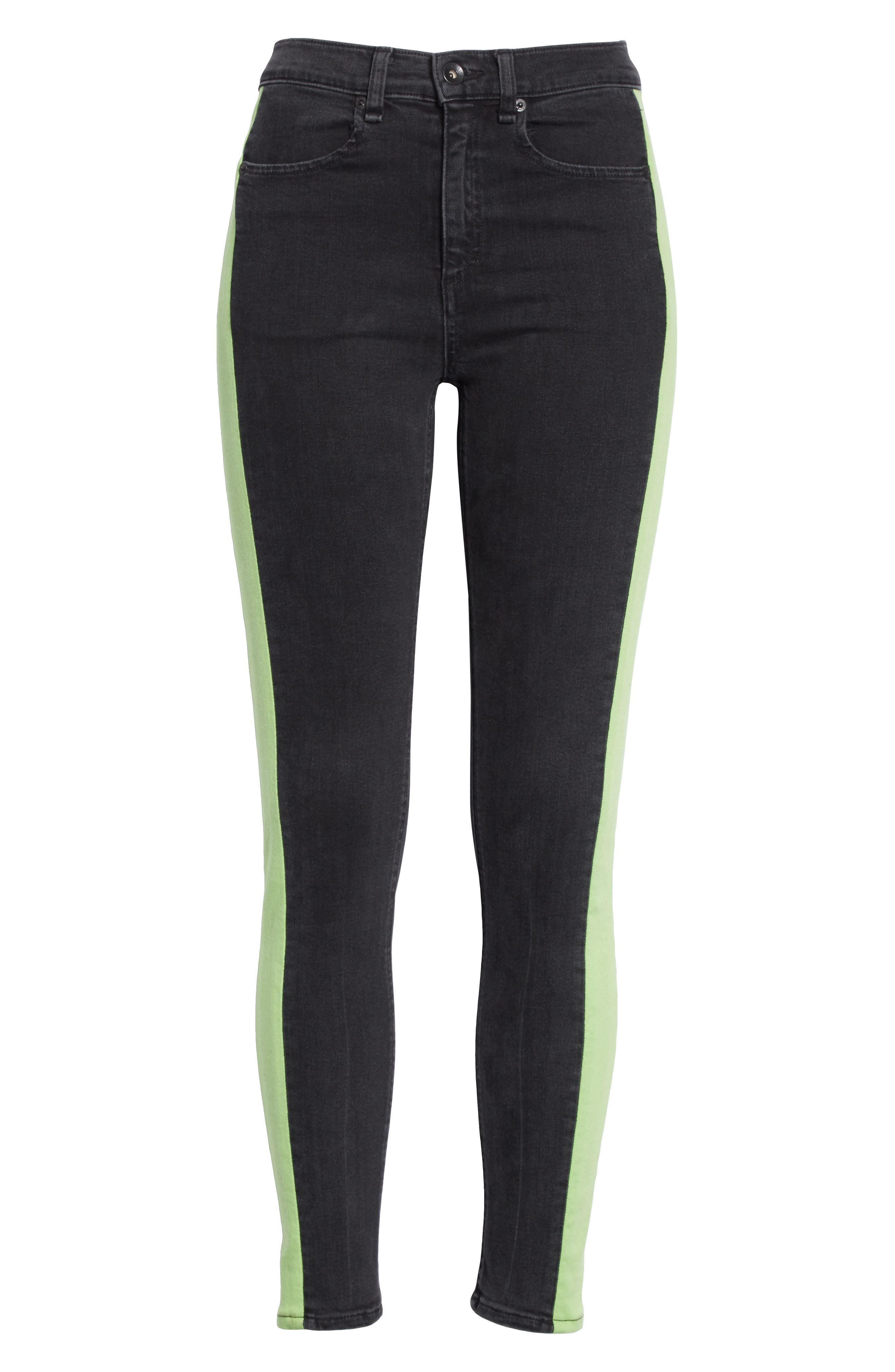 JEAN Mazie High Waist Skinny Jeans,                             Alternate thumbnail 6, color,                             001