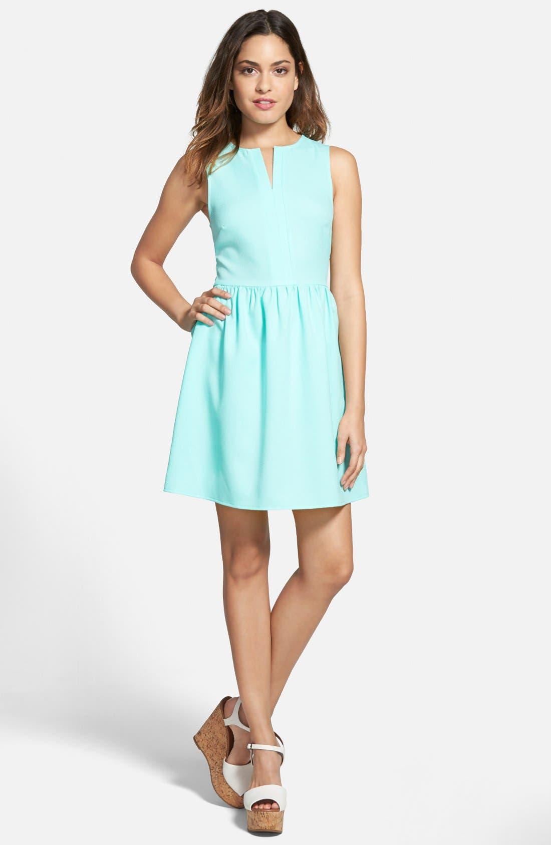 'Rowan' V-Neck Skater Dress,                             Main thumbnail 2, color,