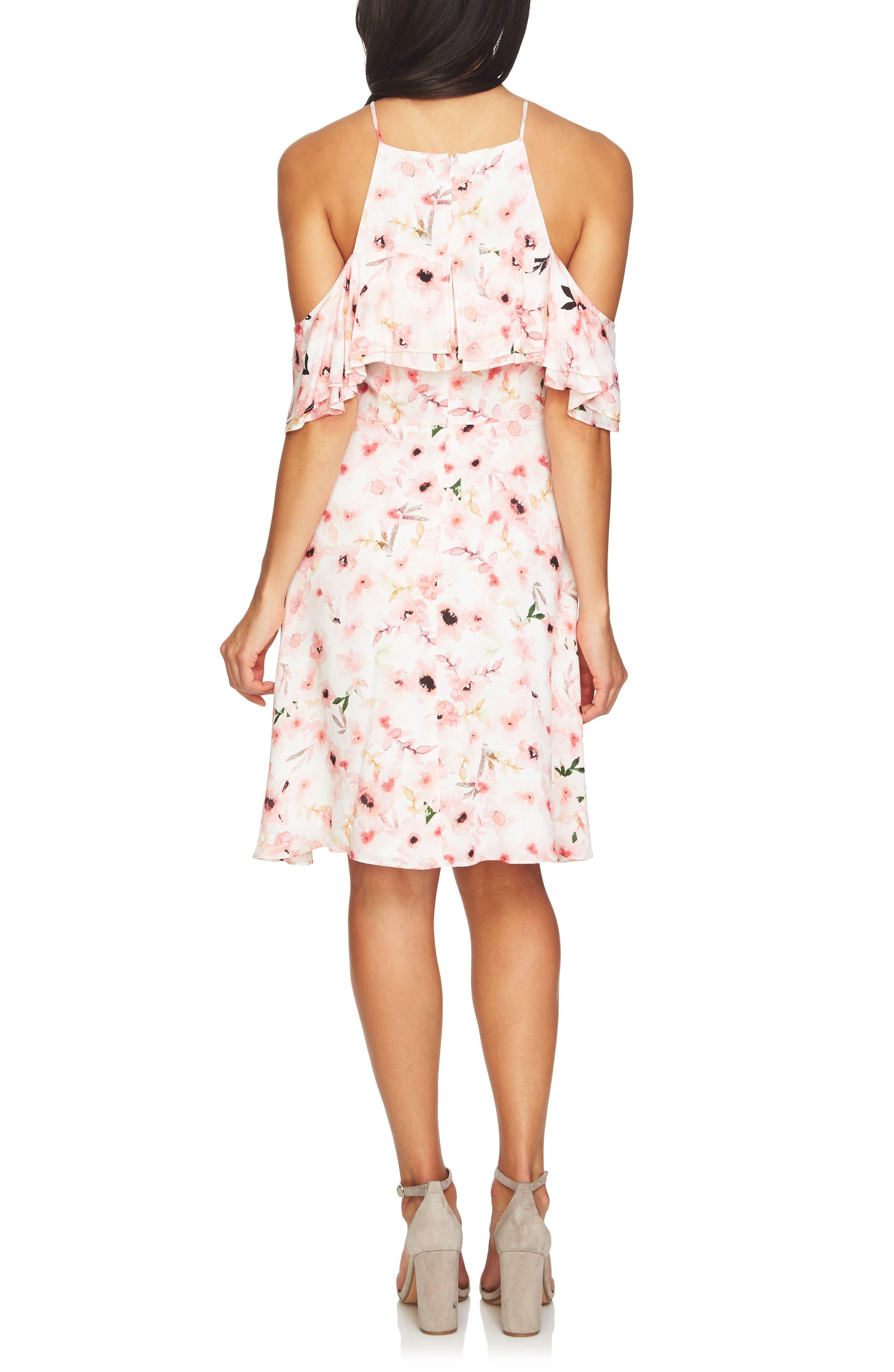 Arden Cold Shoulder Ruffle Dress,                             Alternate thumbnail 2, color,                             145