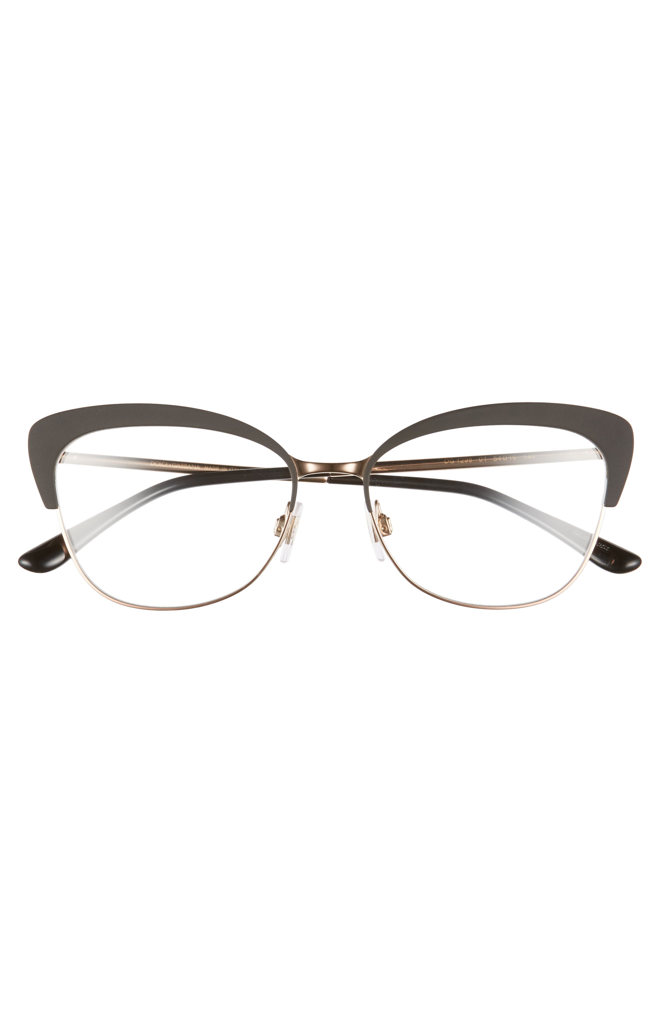 54mm Optical Glasses,                             Alternate thumbnail 3, color,                             BLACK/ PINK
