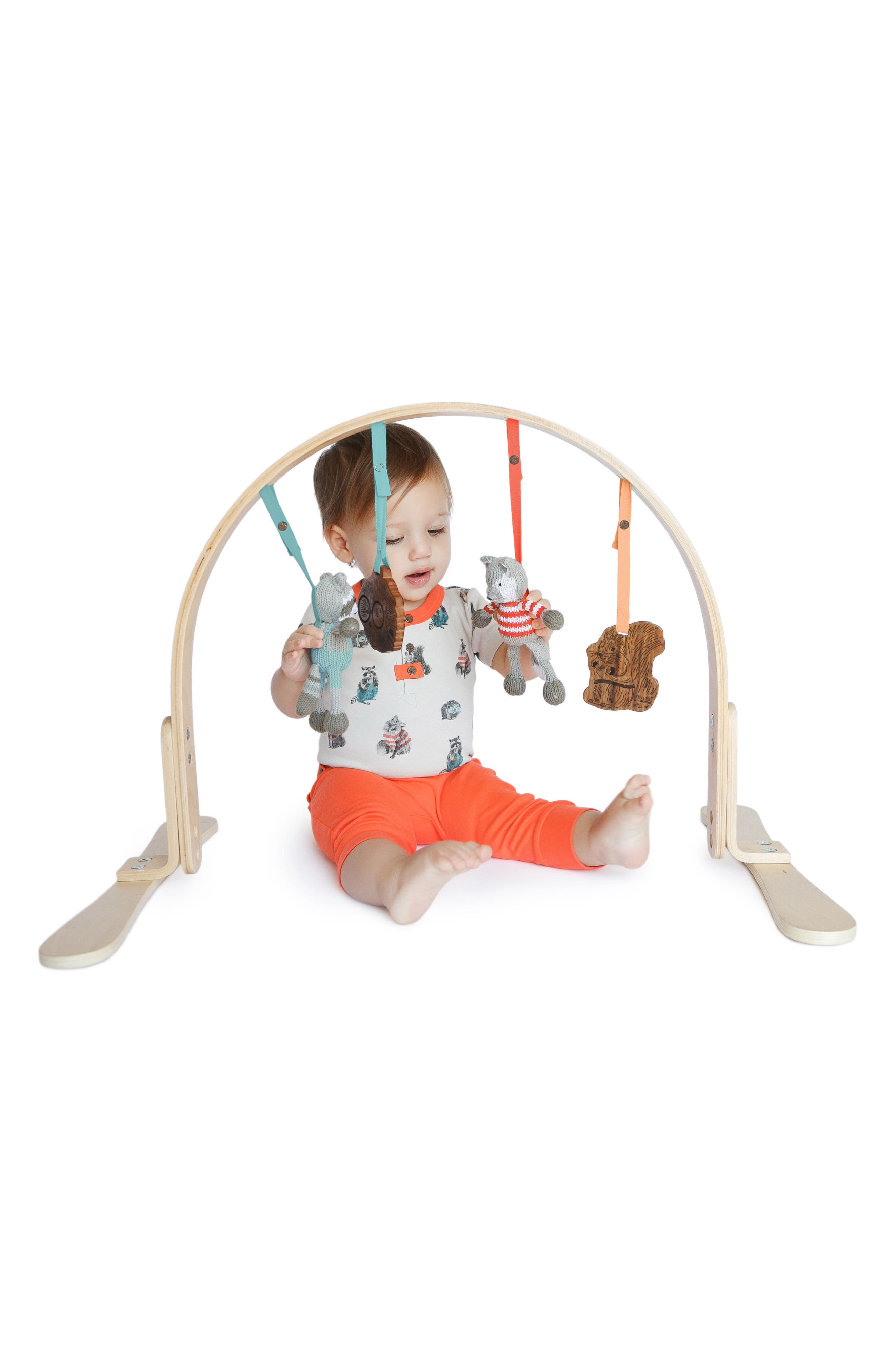 Wooden Play Gym & Woodland Mat,                             Alternate thumbnail 2, color,                             205