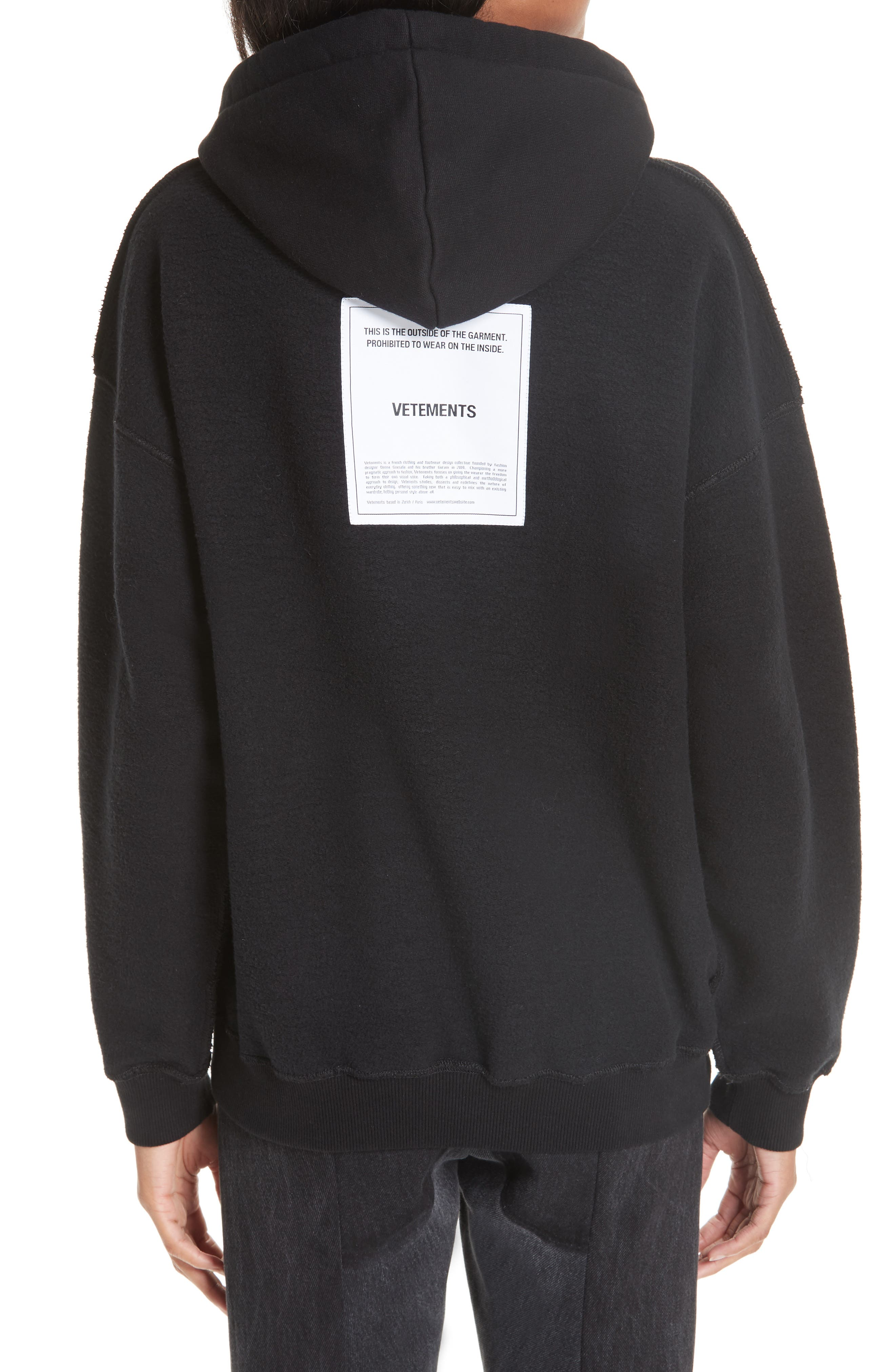 Inside-Out Hoodie,                             Alternate thumbnail 2, color,                             BLACK