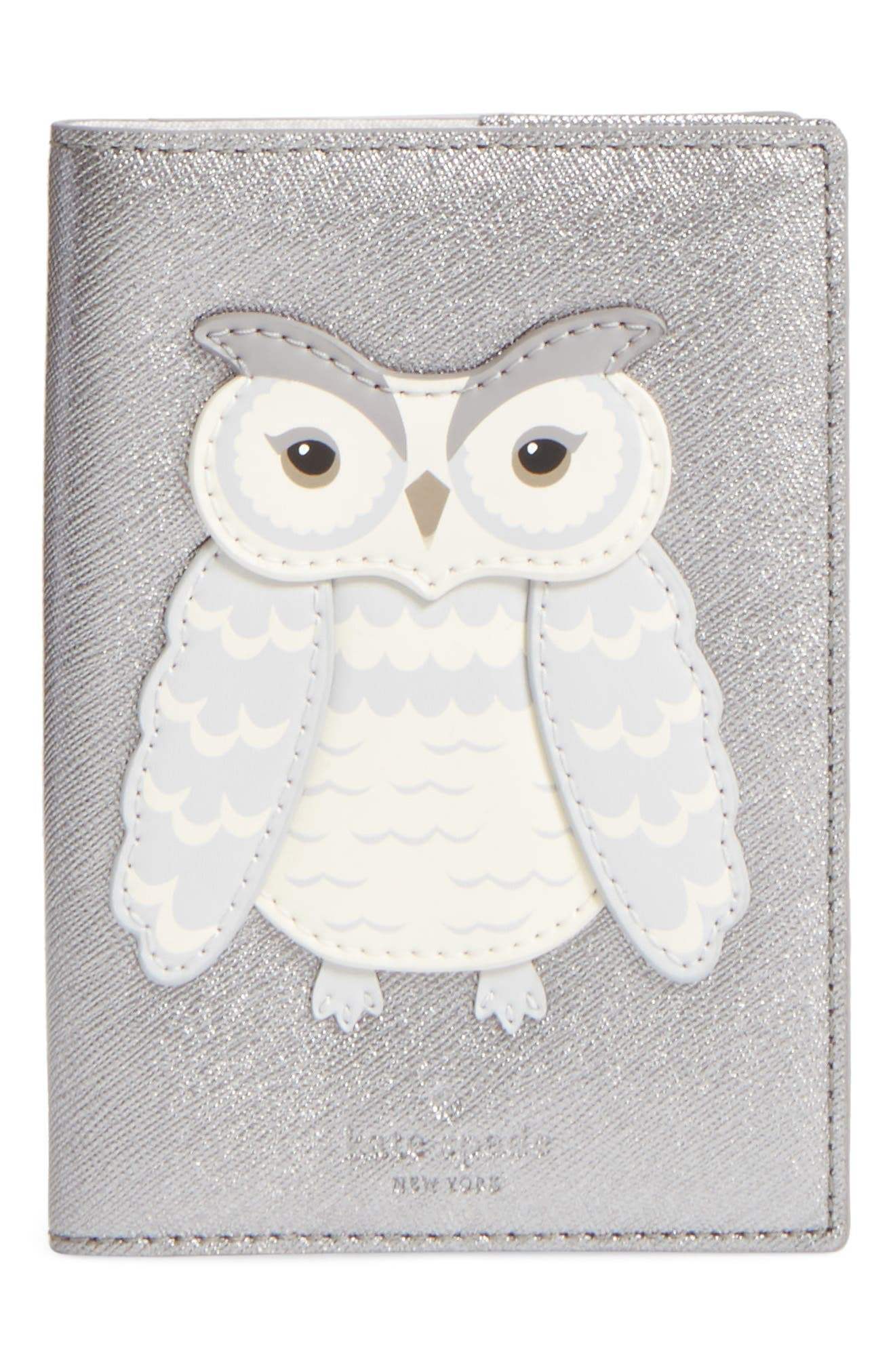 starbright owl leather passport case,                             Main thumbnail 1, color,