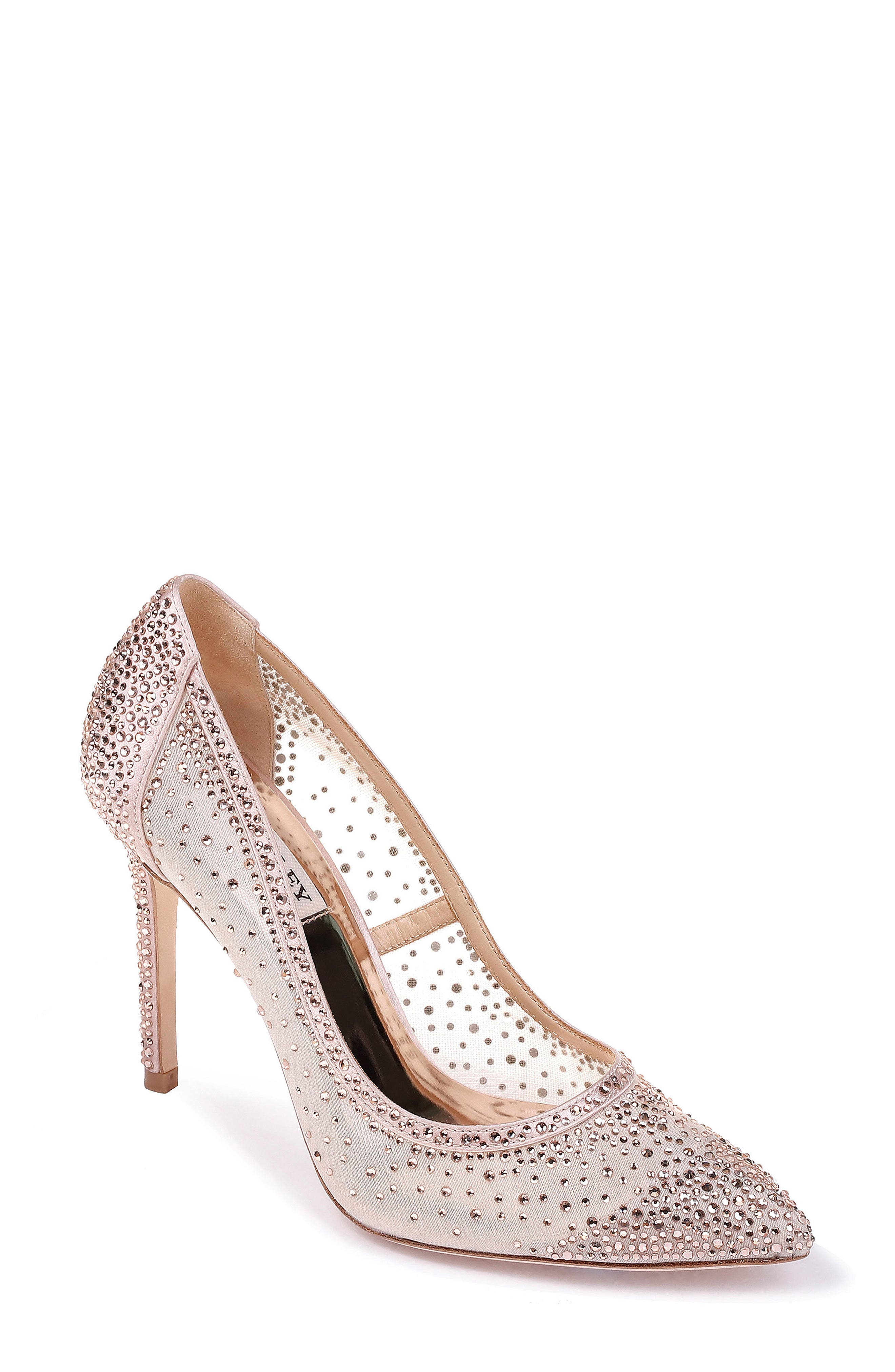 Weslee Pointy Toe Pump,                             Main thumbnail 1, color,                             BLUSH SATIN