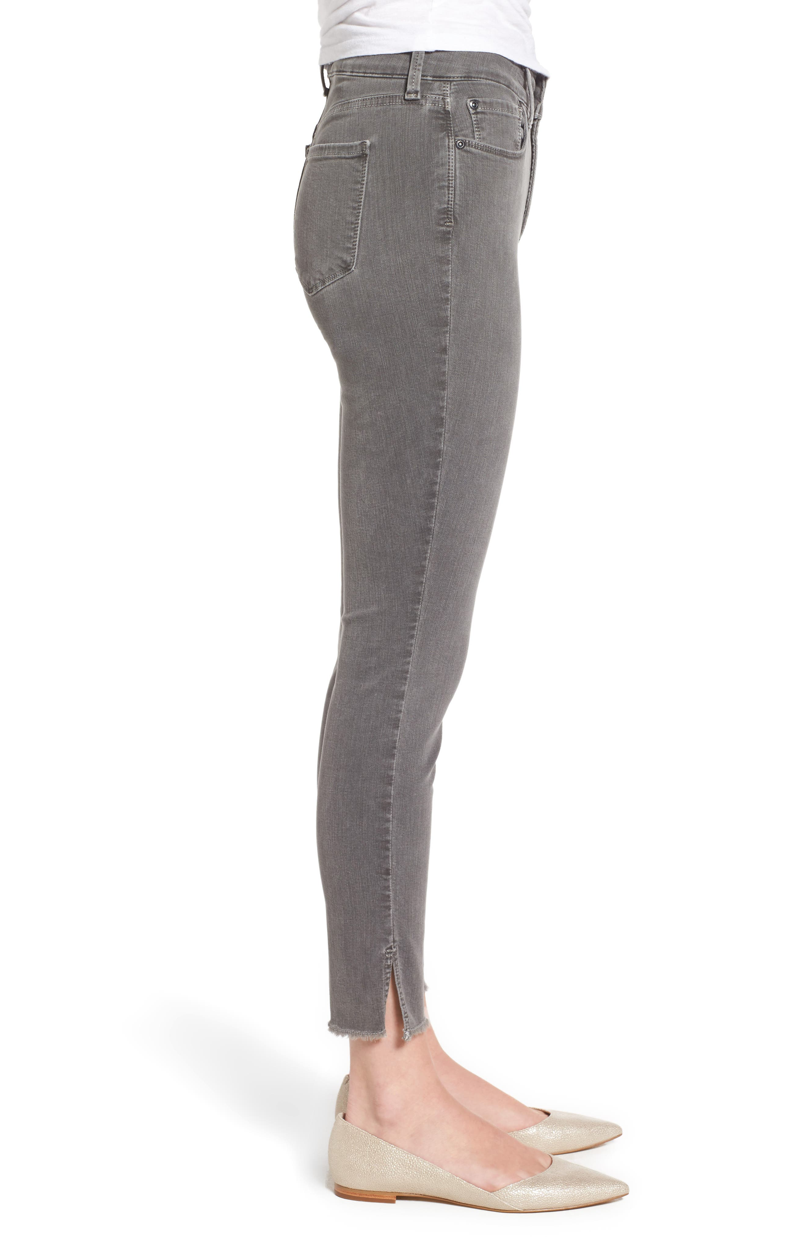 Ami Frayed Hem Stretch Skinny Ankle Jeans,                             Alternate thumbnail 3, color,                             038
