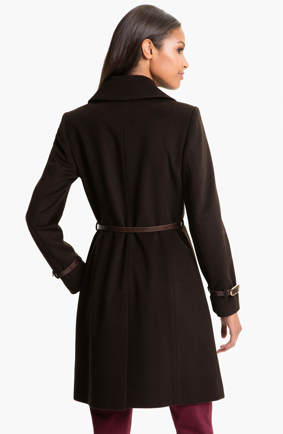 'Kate' Belted Notch Collar Coat,                             Alternate thumbnail 3, color,                             200