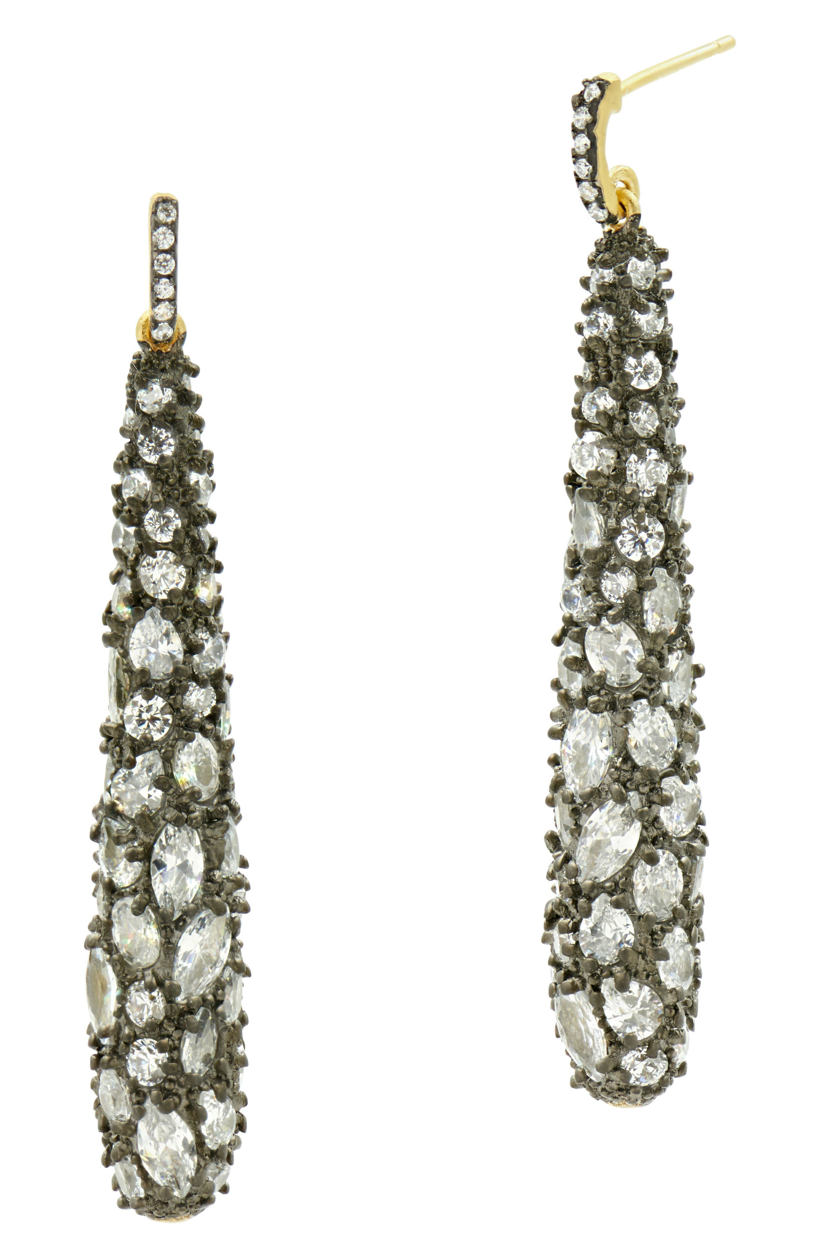 Cubic Zirconia Pavé Drop Earrings,                             Main thumbnail 1, color,                             710