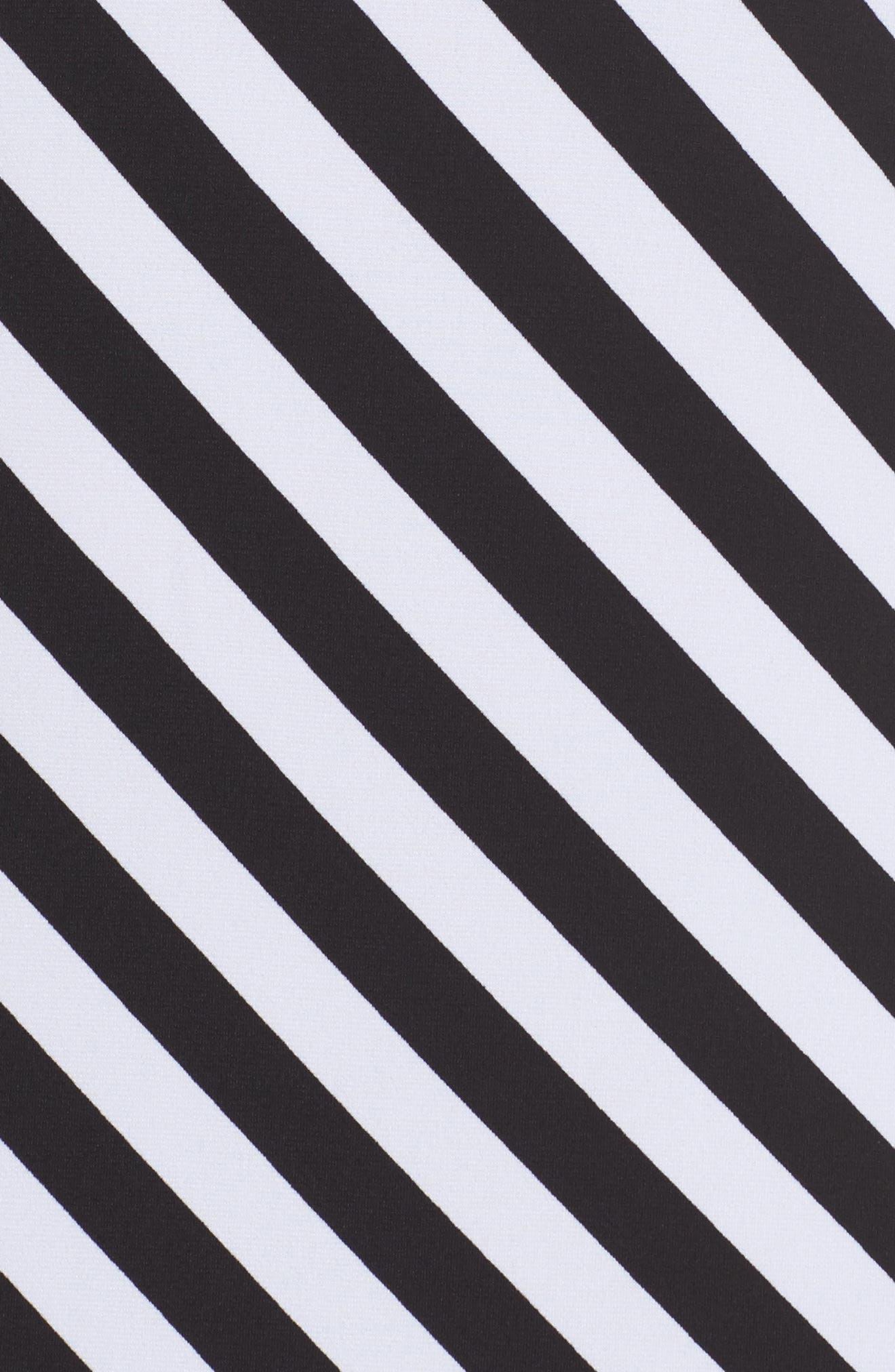 Tulip Sleeve Stripe Dress,                             Alternate thumbnail 5, color,