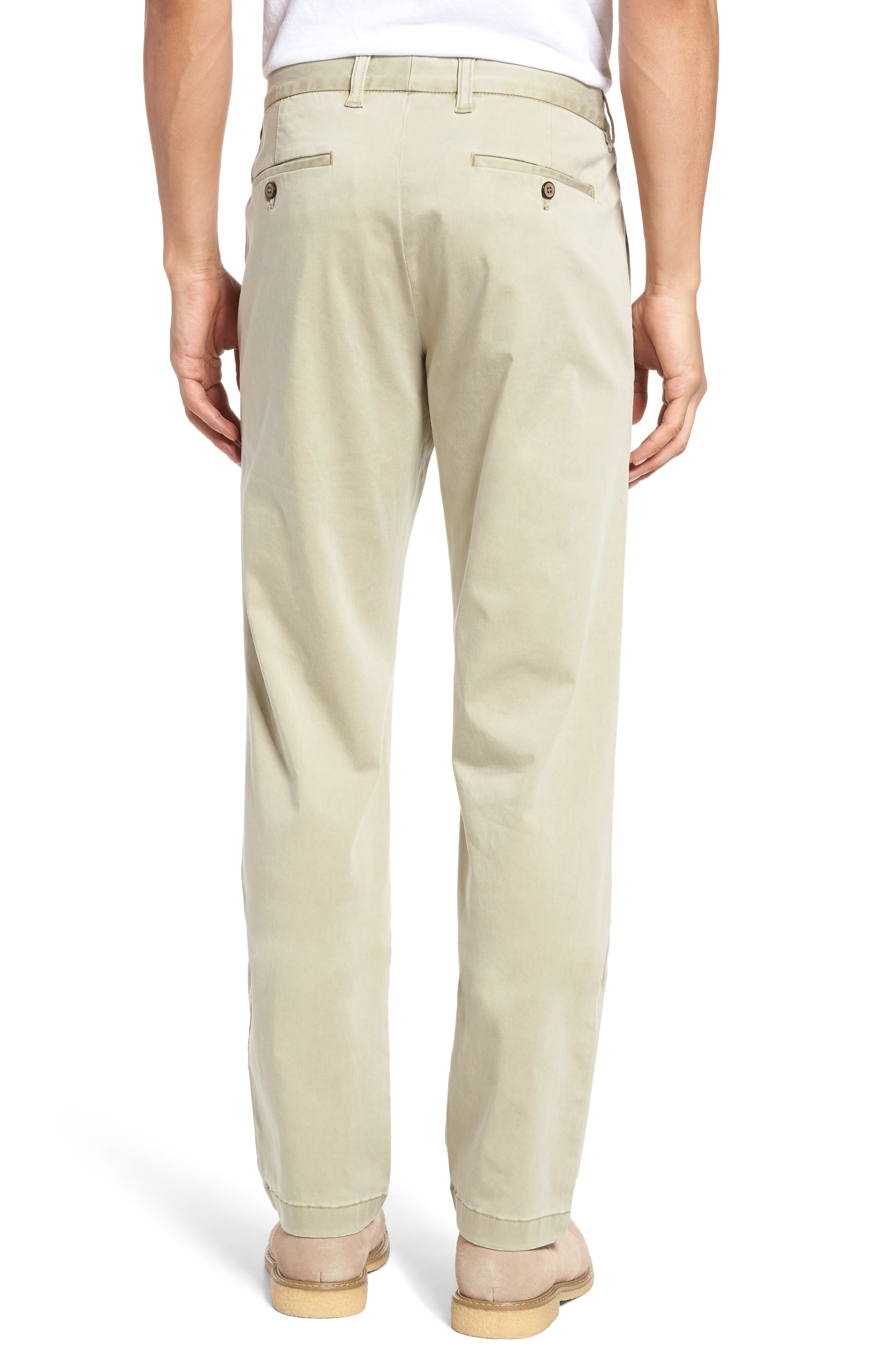 Boracay Flat Front Pants,                             Alternate thumbnail 2, color,                             KHAKI