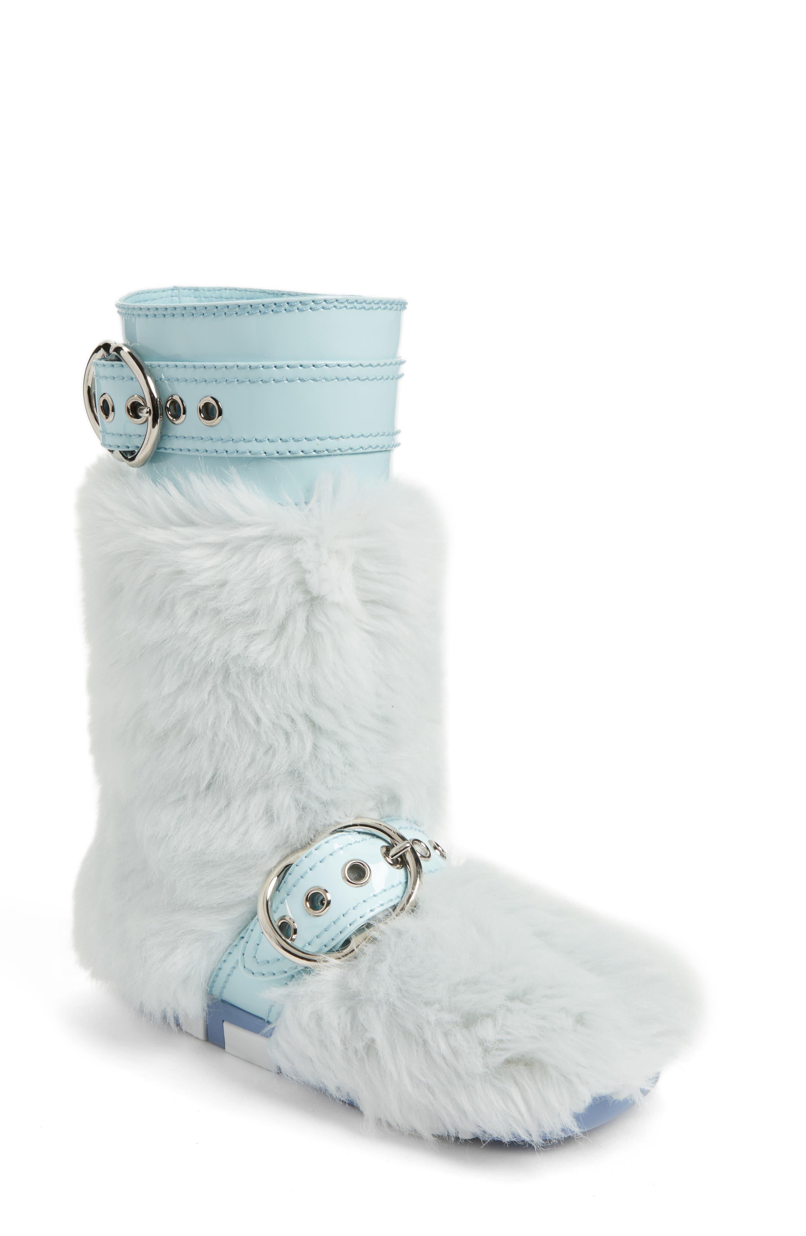 Faux Fur Buckle Boots,                         Main,                         color, 453