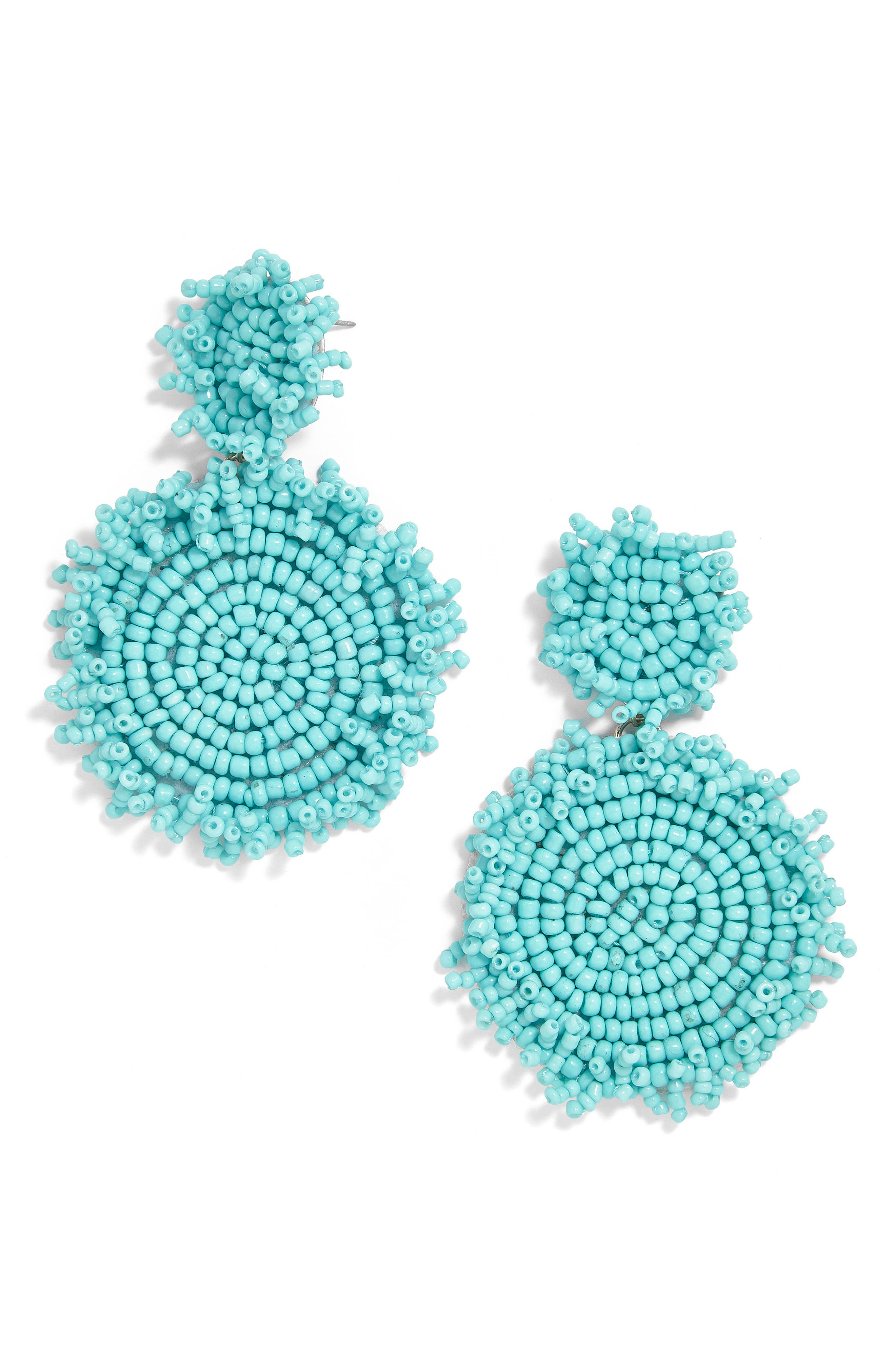 Rianne Beaded Drop Earrings,                             Main thumbnail 1, color,                             TURQUOISE