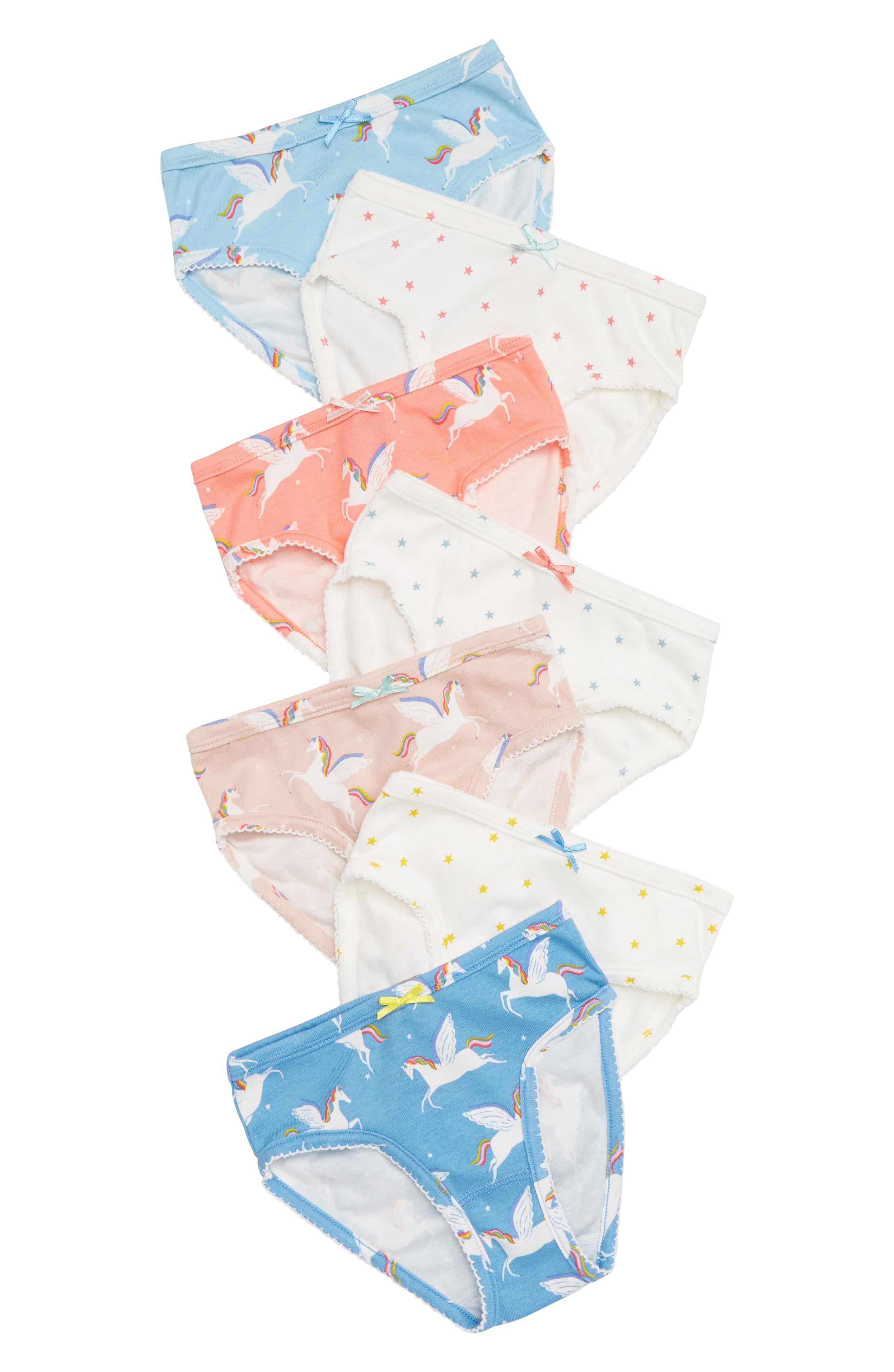 7-Pack Briefs,                         Main,                         color, MUL RAINBOW UNICORNS