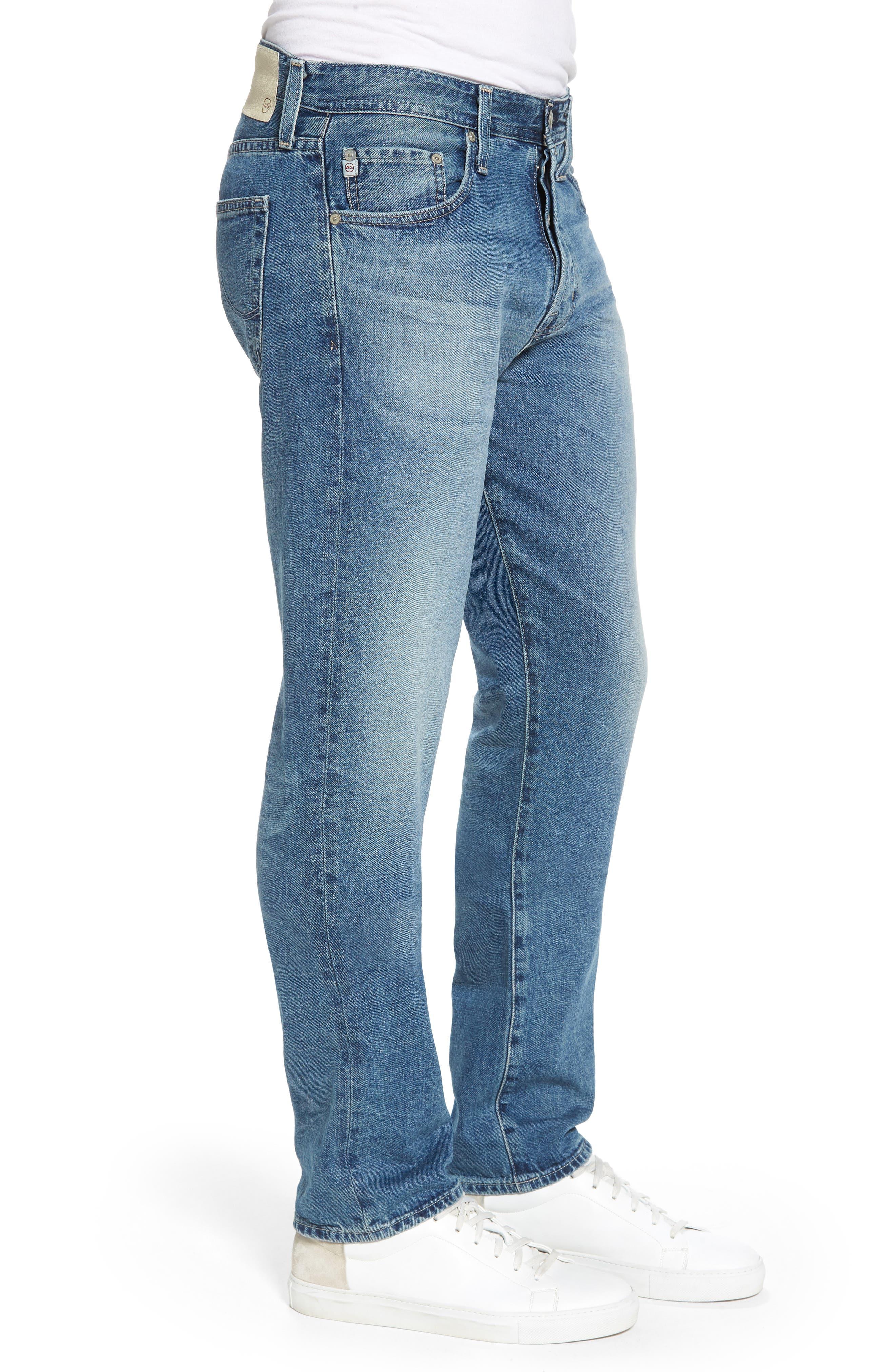 Pipe Slim Straight Leg Jeans,                             Alternate thumbnail 3, color,                             464