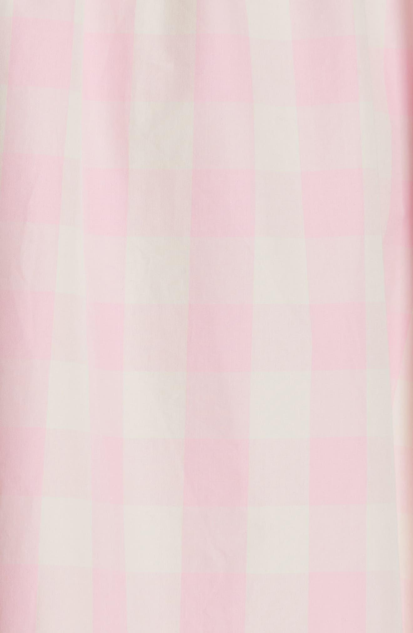 Gathered Waist Gingham Dress,                             Alternate thumbnail 5, color,                             650