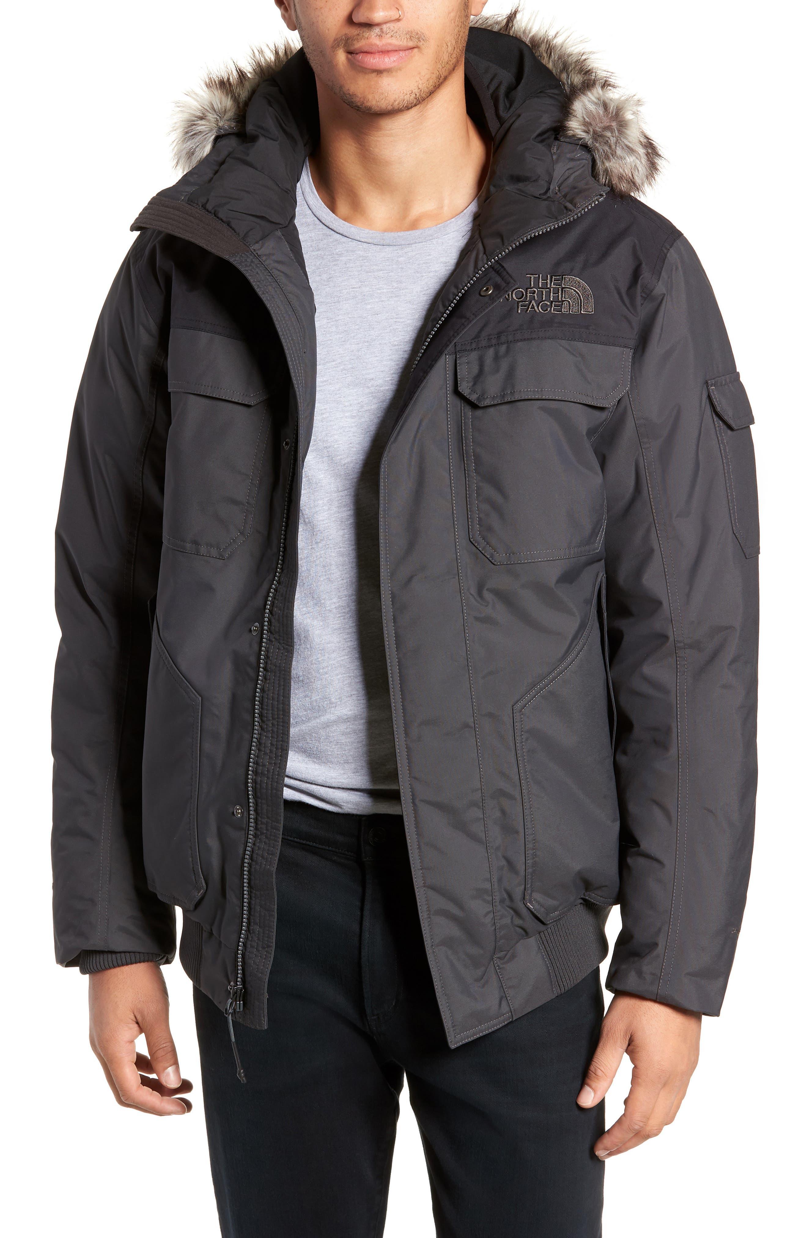 Gotham III Waterproof Down Jacket,                         Main,                         color, ASPHALT GREY/ TNF BLACK