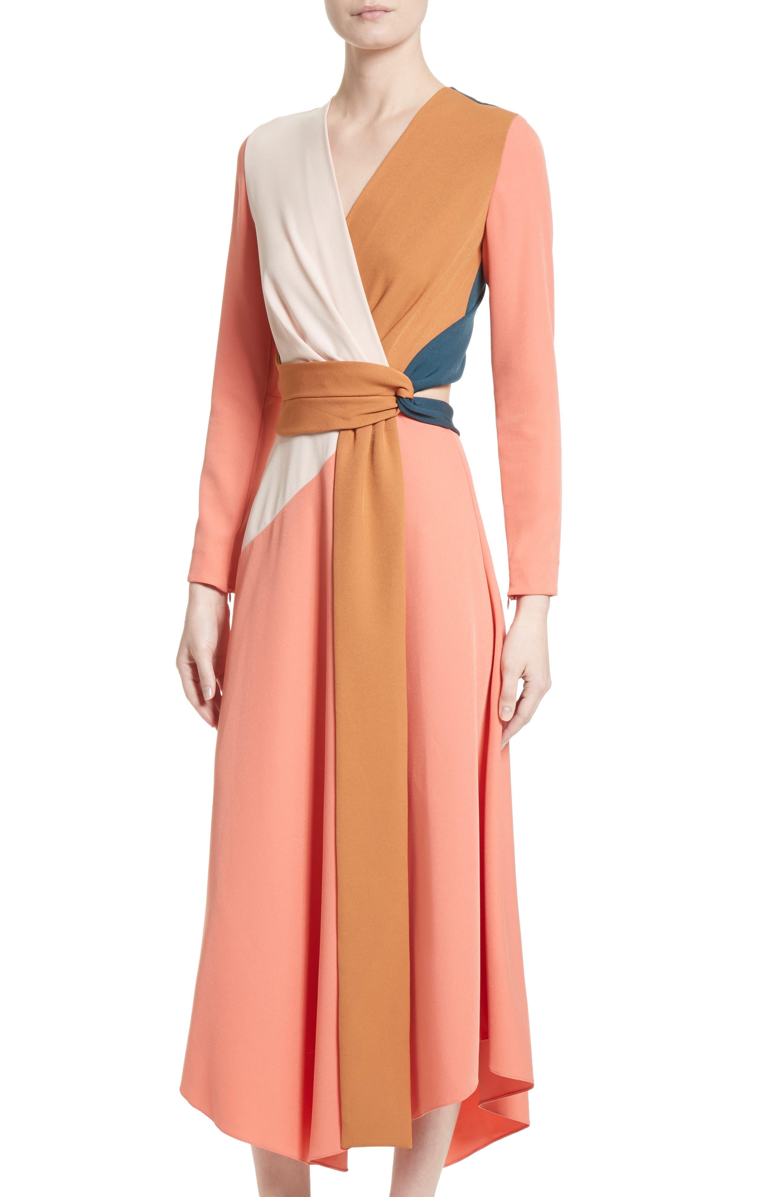 Himera Wrap Dress,                             Alternate thumbnail 4, color,                             950