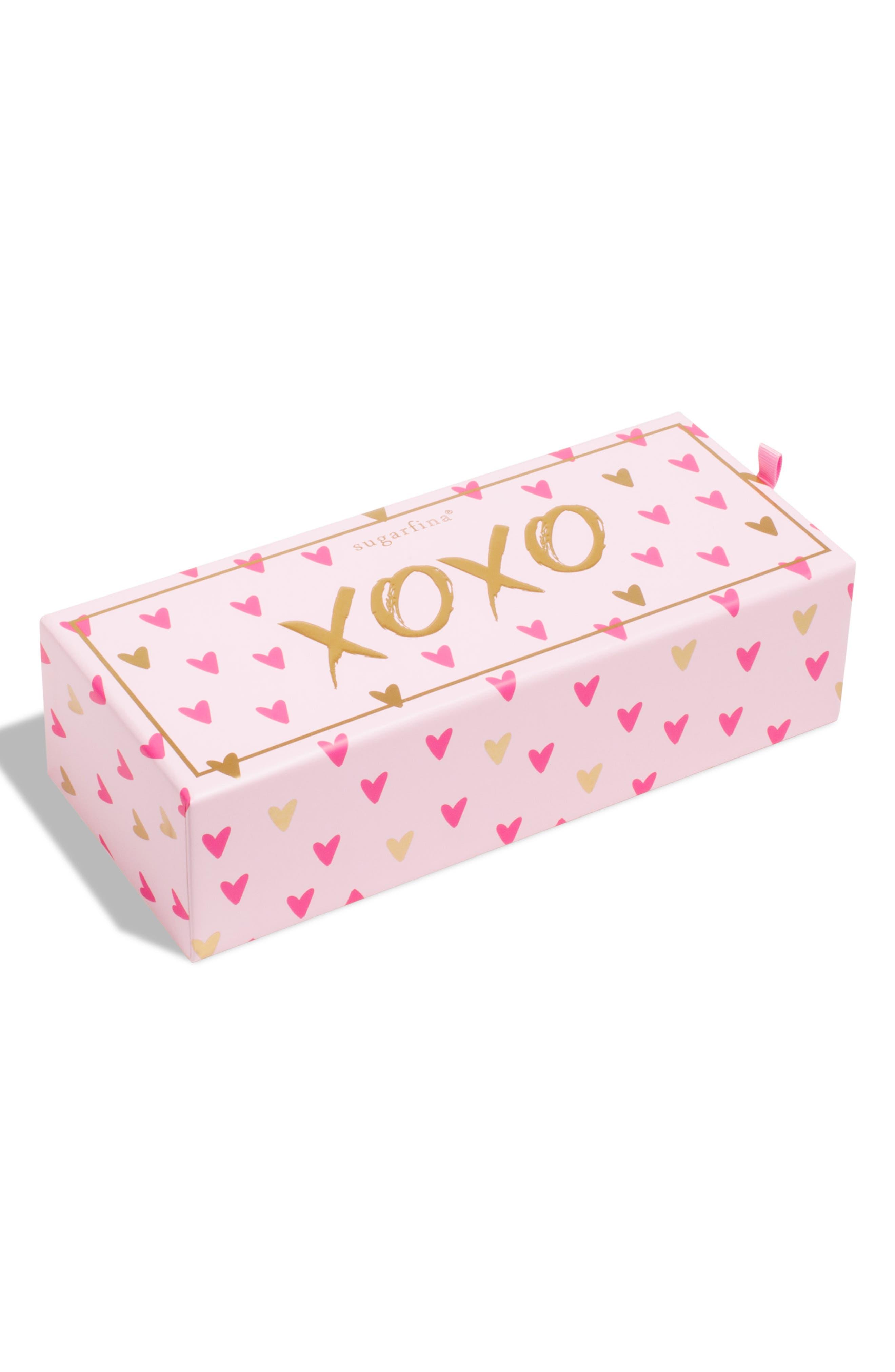 XOXO 3-Piece Candy Bento Box,                             Main thumbnail 1, color,                             PINK