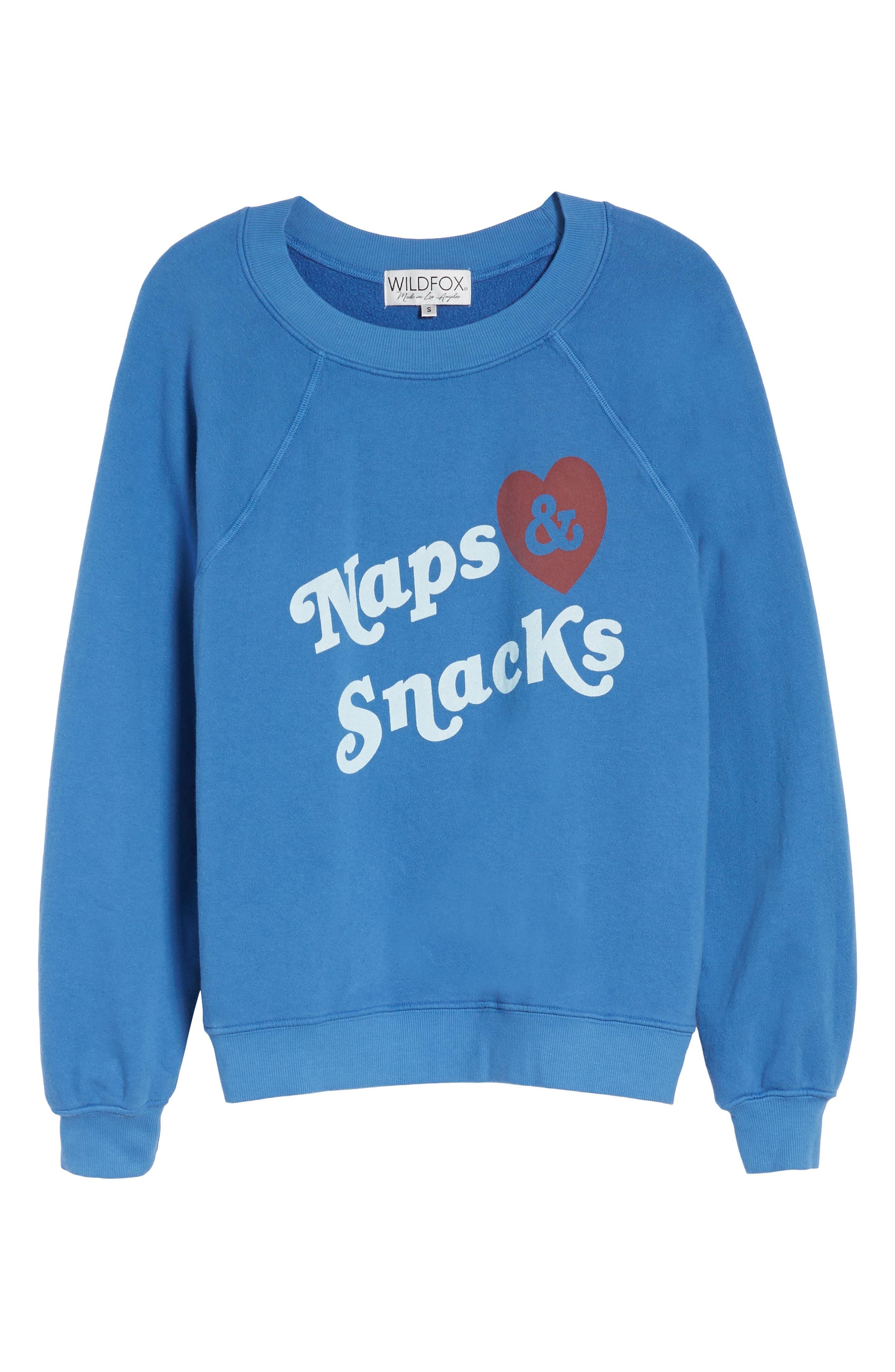 Naps & Snacks Sweatshirt,                             Alternate thumbnail 6, color,                             400