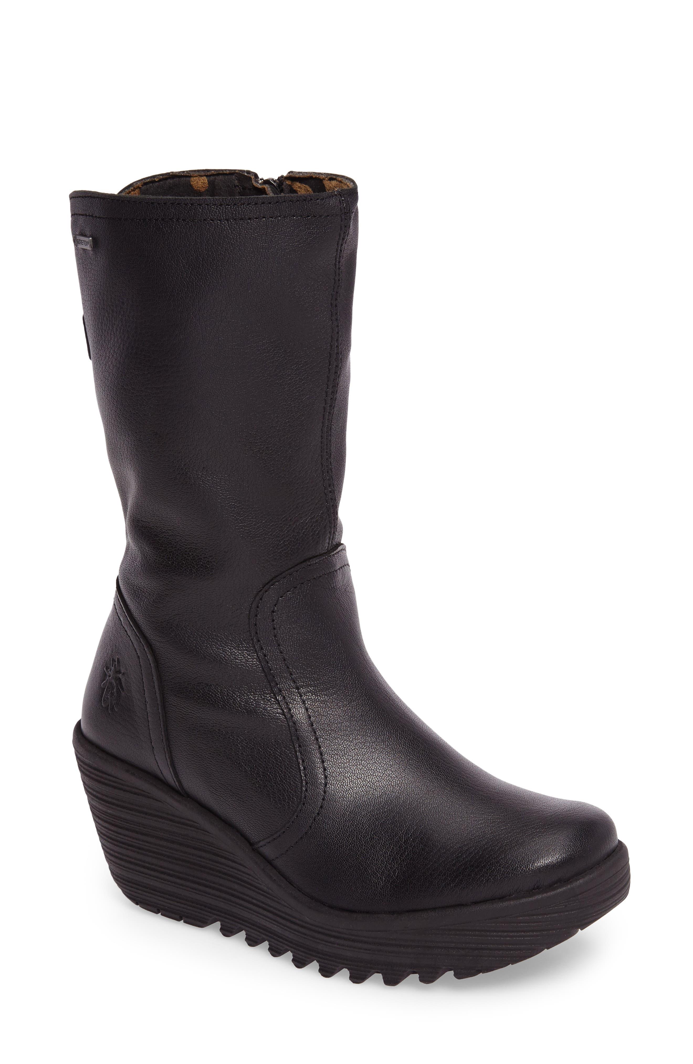 Yups Waterproof Gore-Tex<sup>®</sup> Wedge Boot,                         Main,                         color, 001