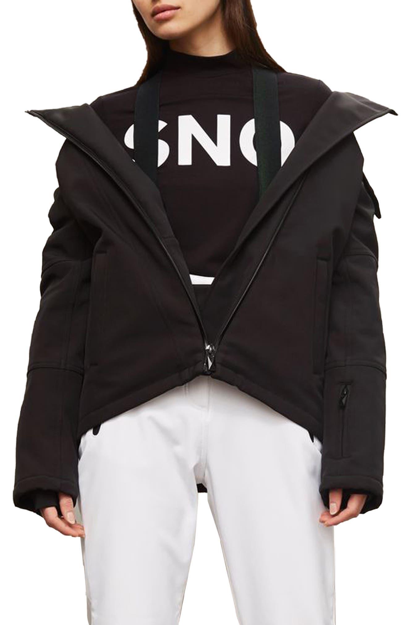 SNO Gladiator Faux Fur Hood Puffer Jacket,                             Main thumbnail 1, color,                             001