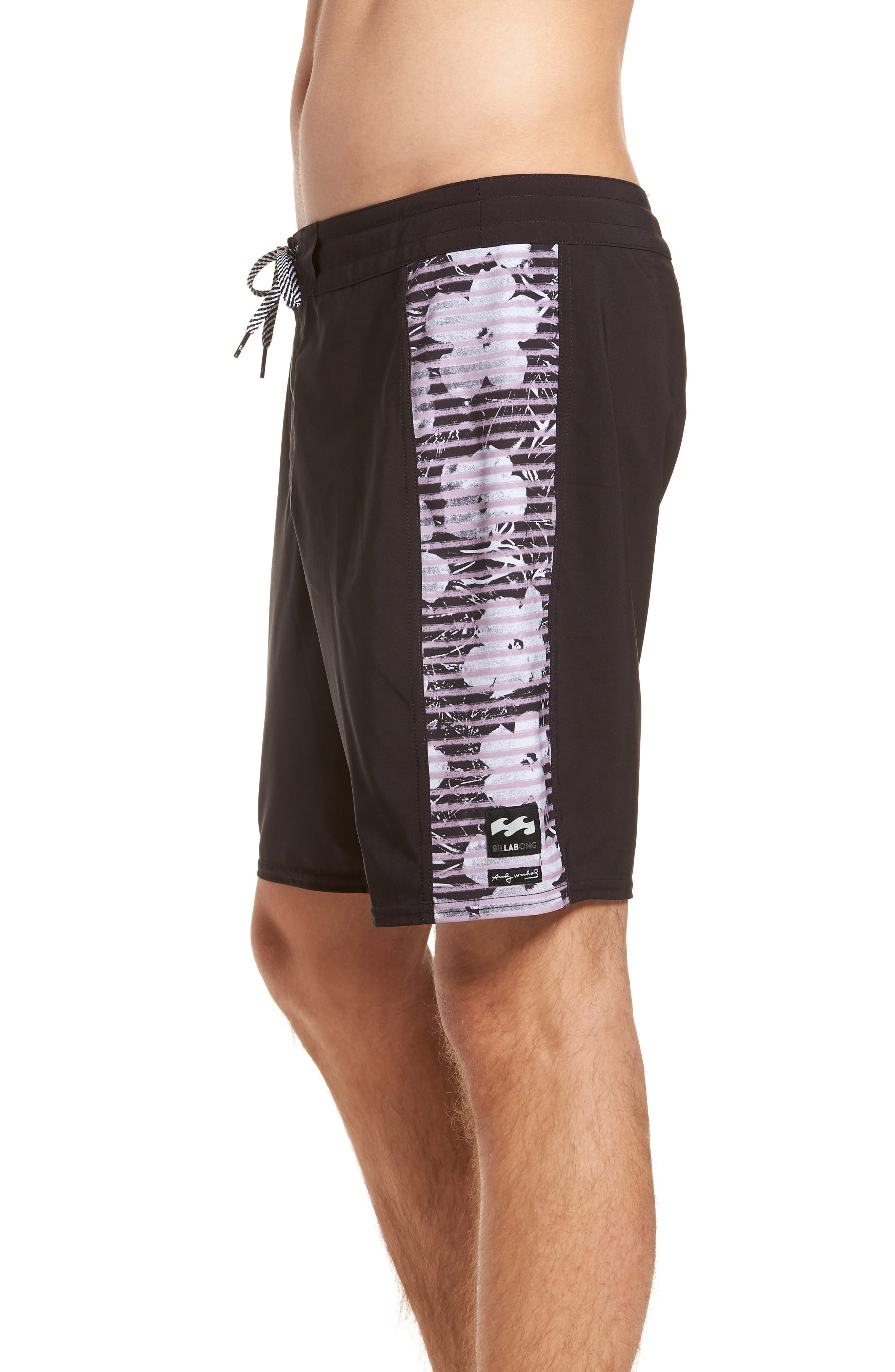 Holy Are You Board Shorts,                             Alternate thumbnail 4, color,                             BLACK