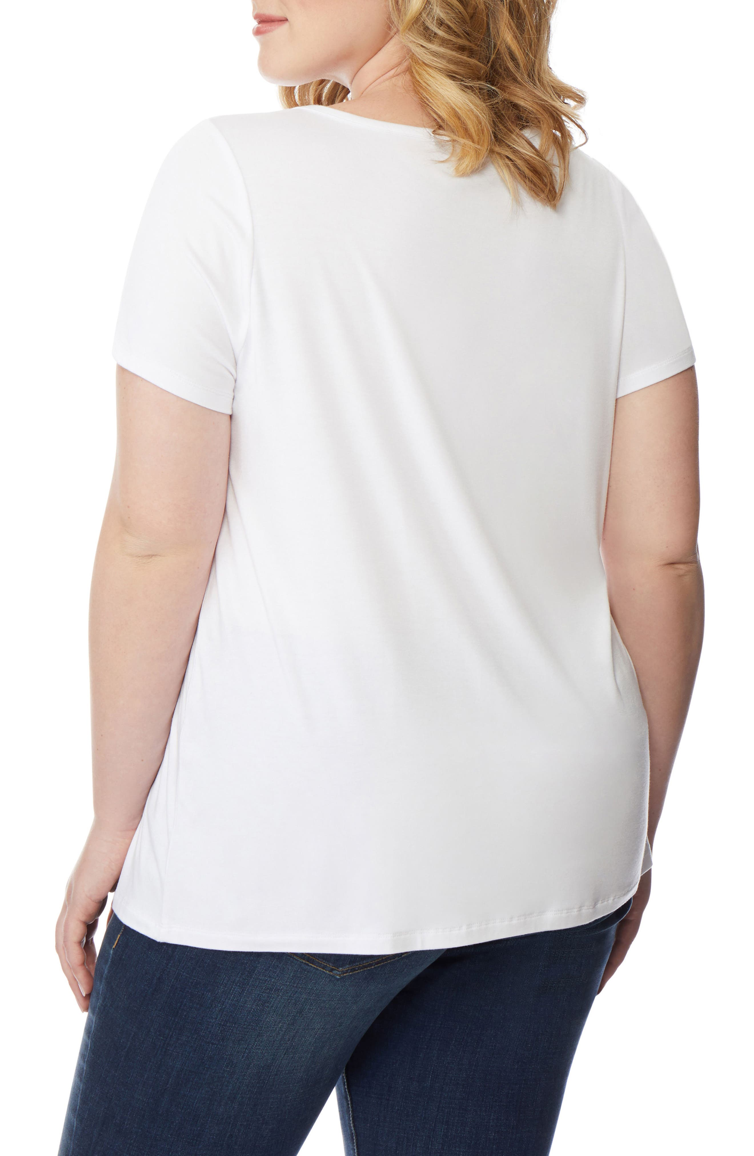 REBEL WILSON X ANGELS,                             Twist Neck Tee,                             Alternate thumbnail 2, color,                             100