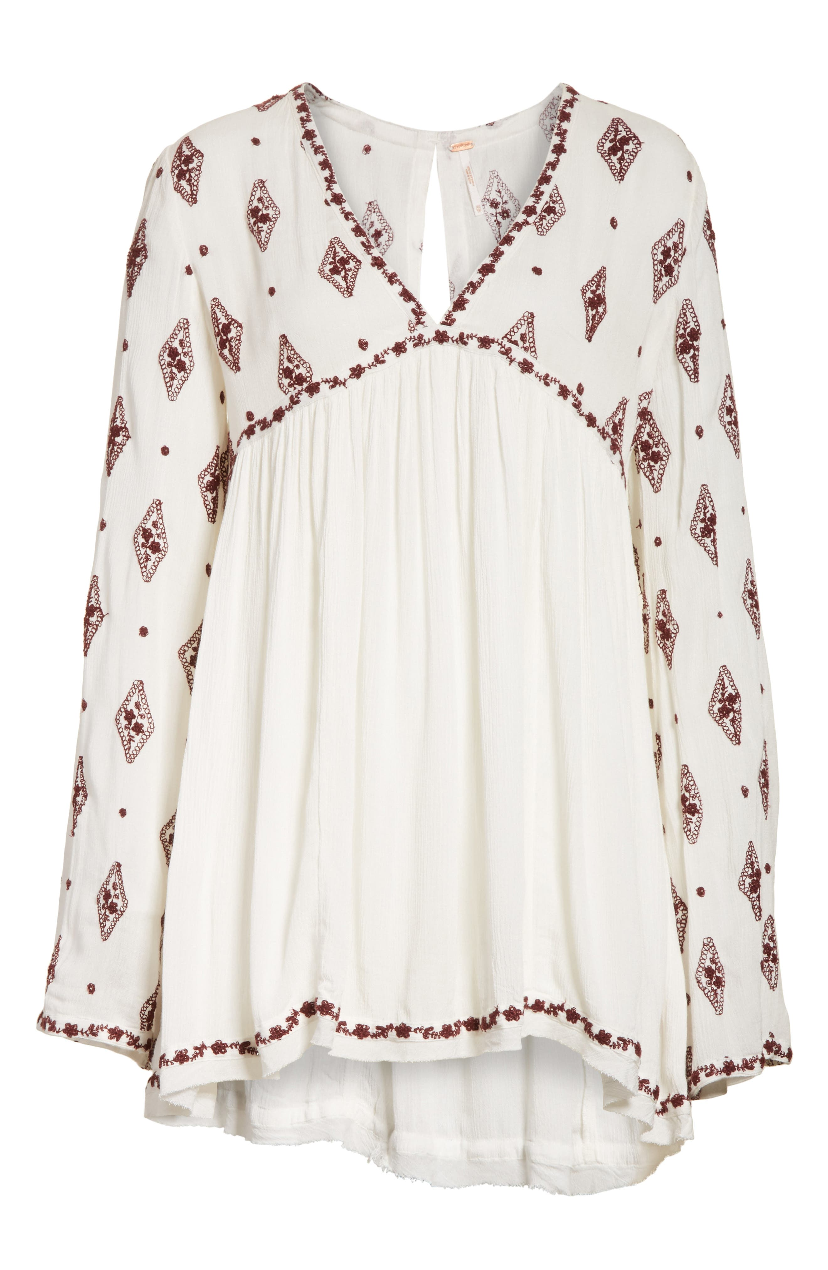 Embroidered Bell Sleeve Top,                             Alternate thumbnail 28, color,