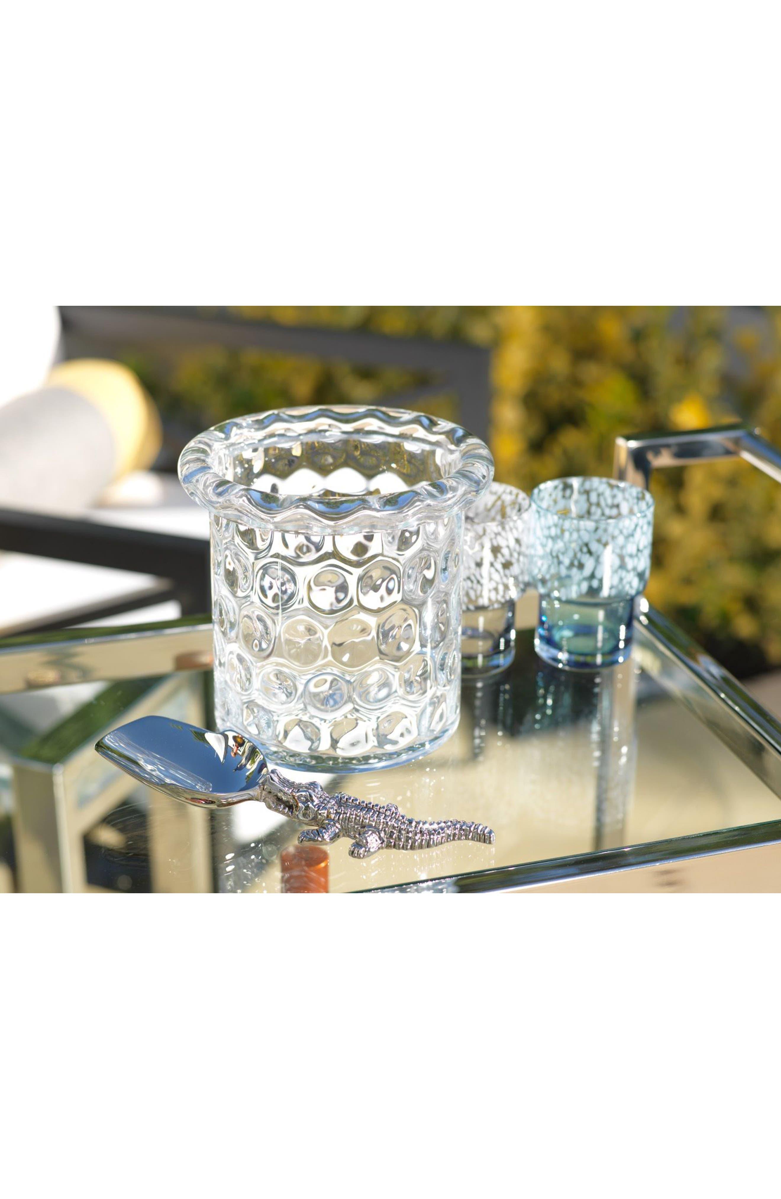 Ravello Glass Ice Bucket,                             Alternate thumbnail 2, color,                             100