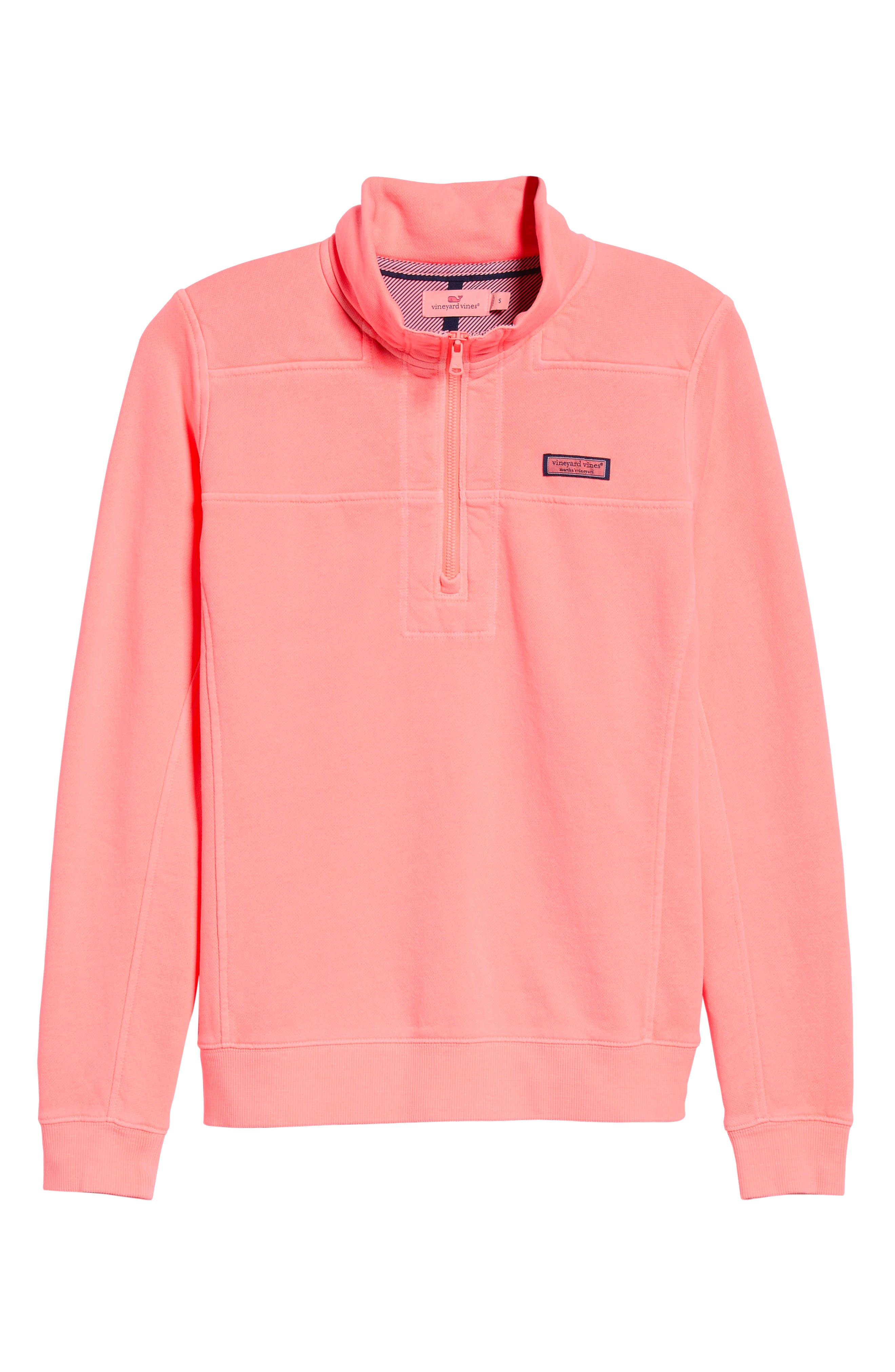 Garment Dyed Classic Shep Pullover,                             Alternate thumbnail 6, color,                             CORAL SAND