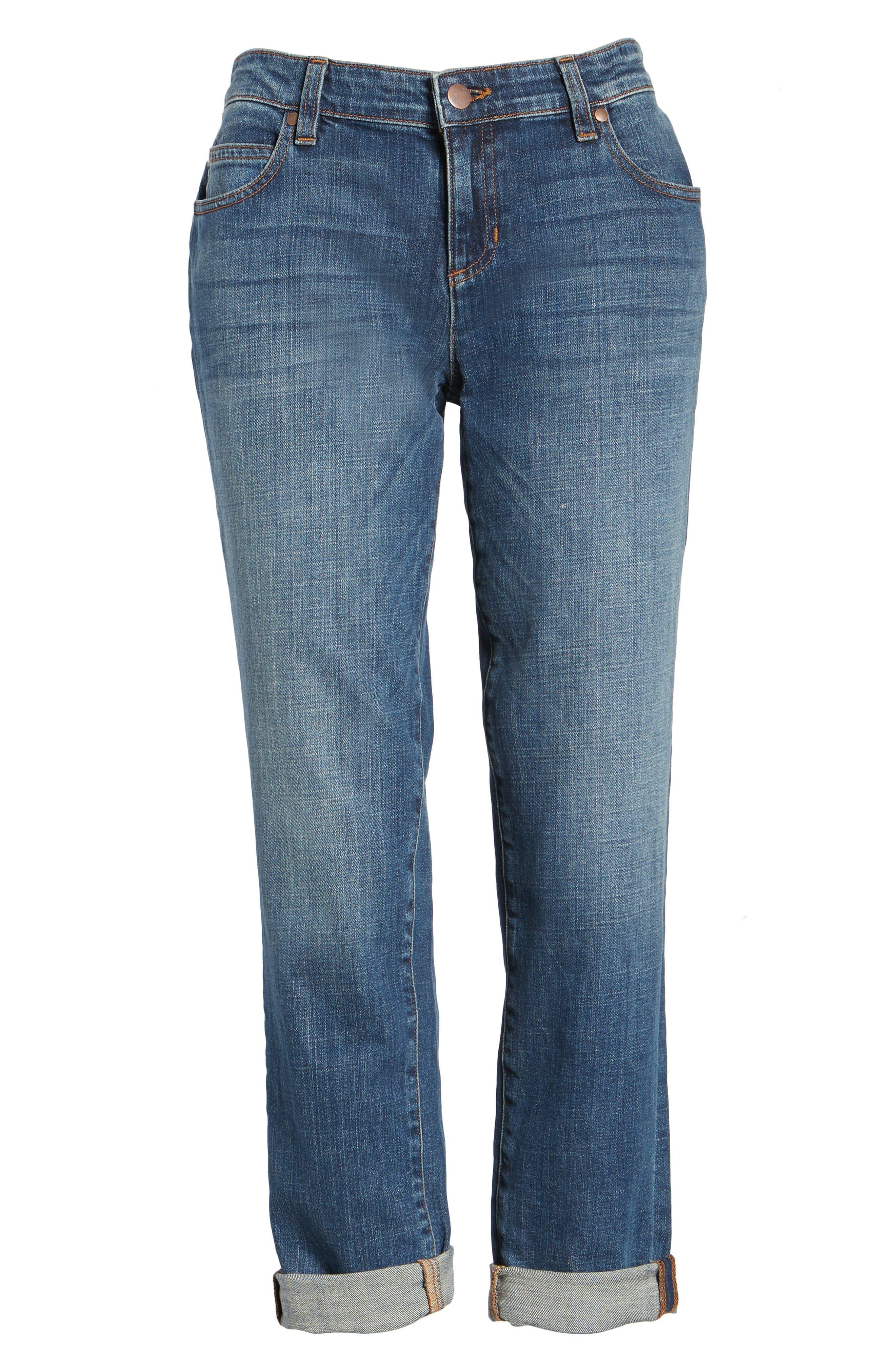 Organic Cotton Boyfriend Jeans,                             Alternate thumbnail 7, color,                             400