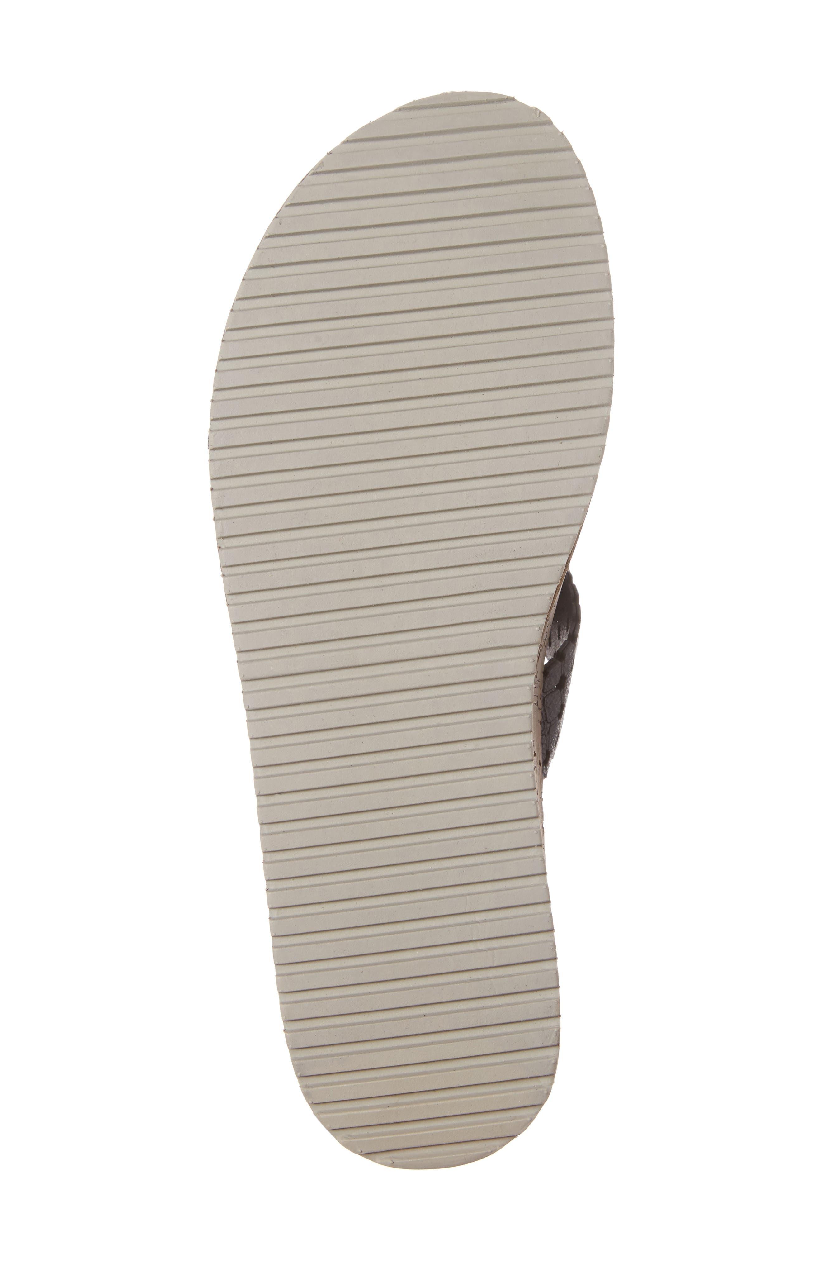 Siri T-Strap Sandal,                             Alternate thumbnail 6, color,                             001