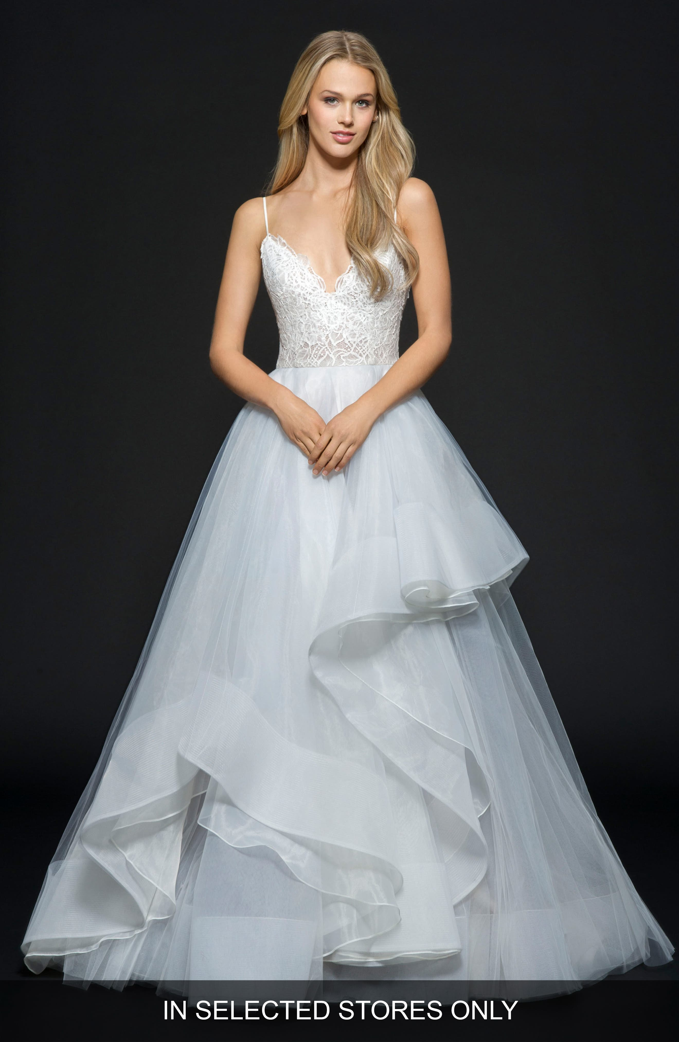 Hayley Paige Bijou Tulle & Organza Ballgown, Size IN STORE ONLY - Blue