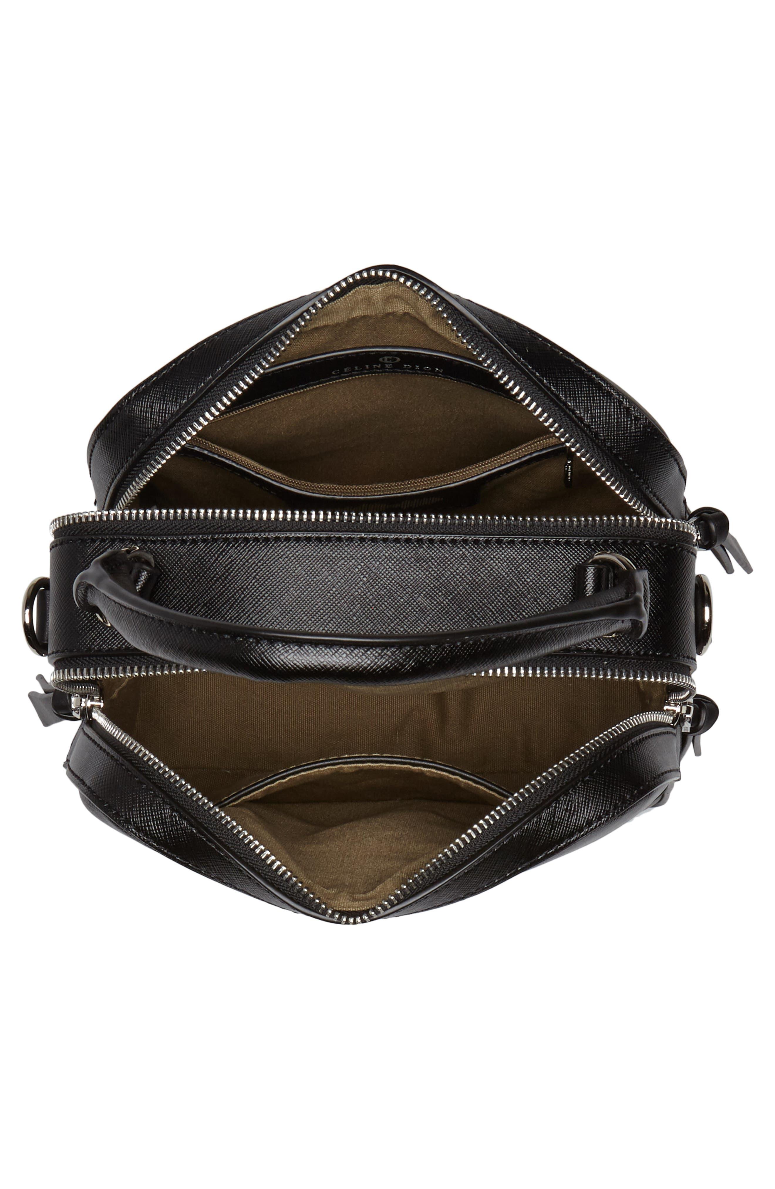 Céline Dion Motif Top Handle Leather Satchel,                             Alternate thumbnail 10, color,