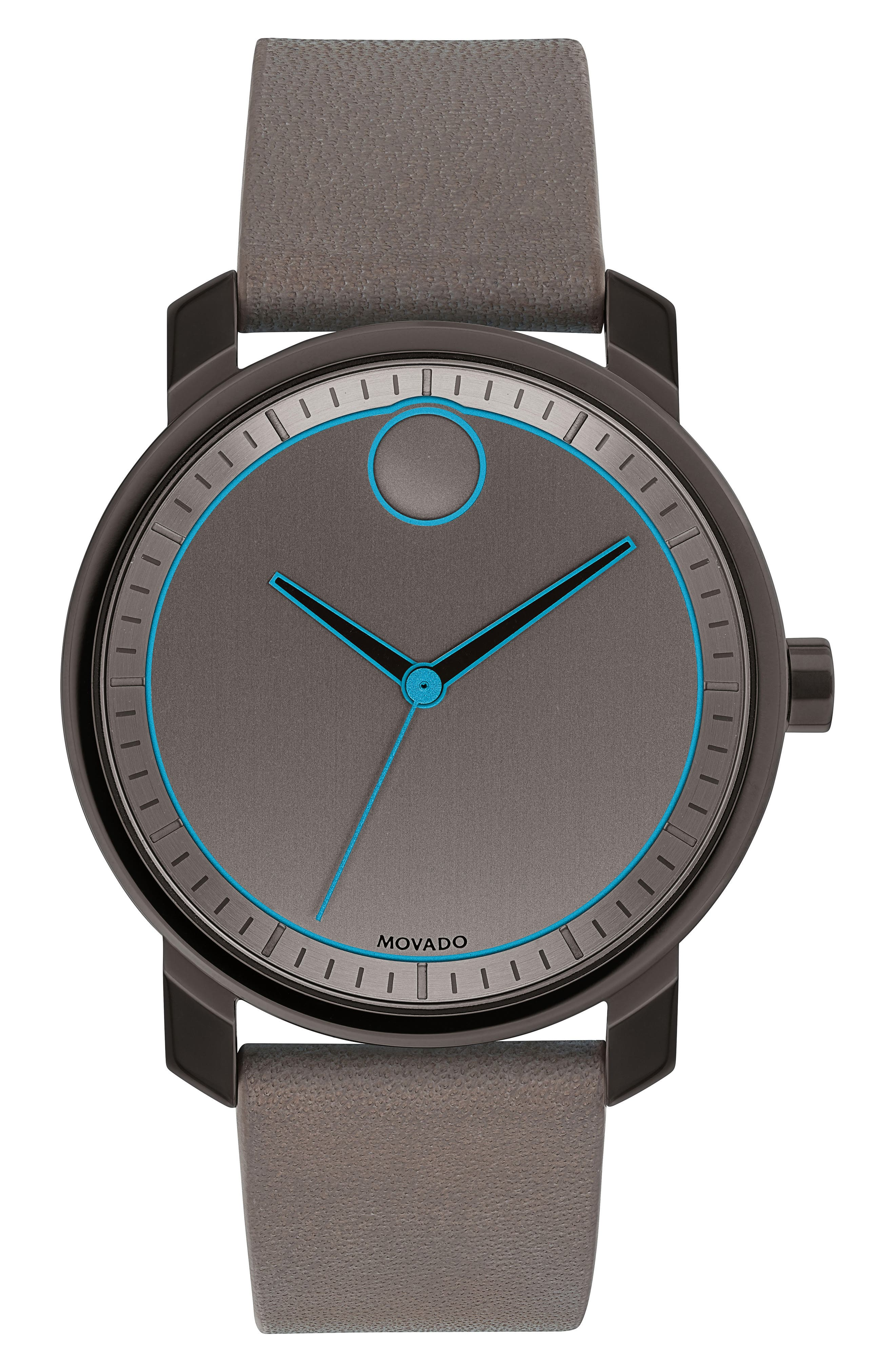 Bold Leather Strap Watch, 41mm,                             Main thumbnail 2, color,