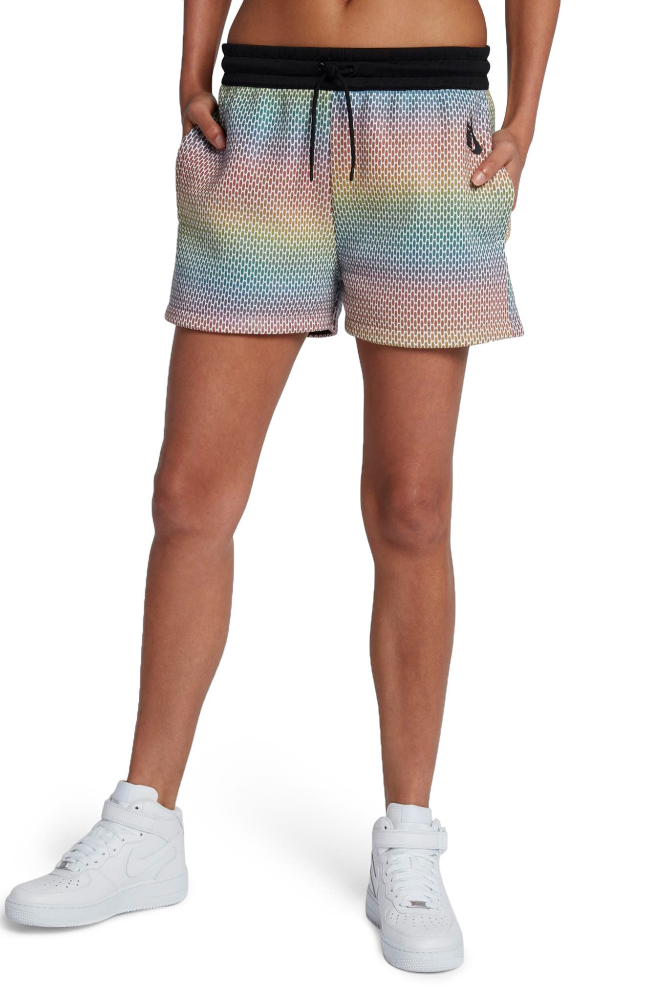 NikeLab Oil Slick Shorts,                             Main thumbnail 1, color,                             100