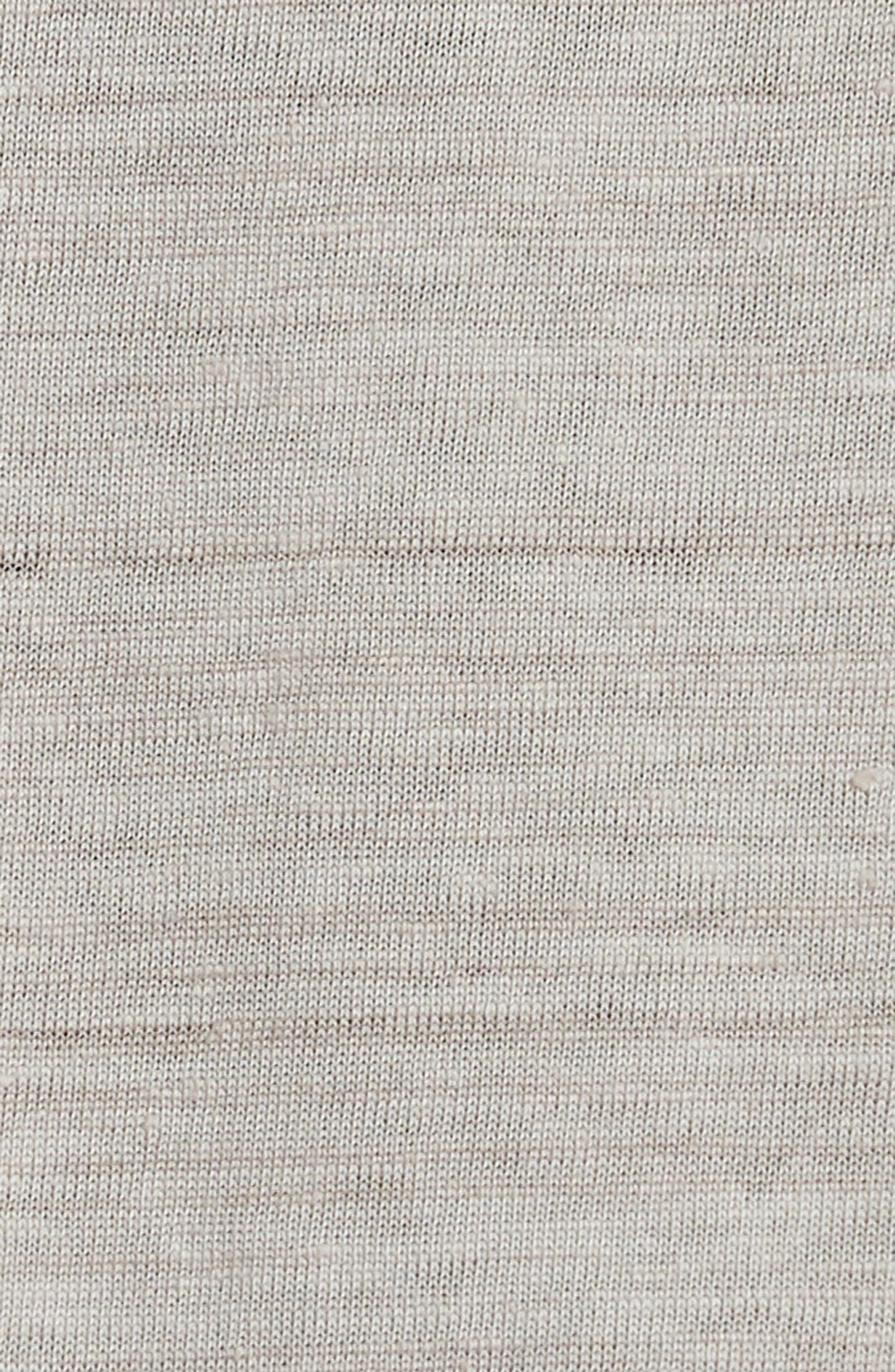 Stripe Zip Polo Shirt,                             Alternate thumbnail 5, color,                             WHEAT