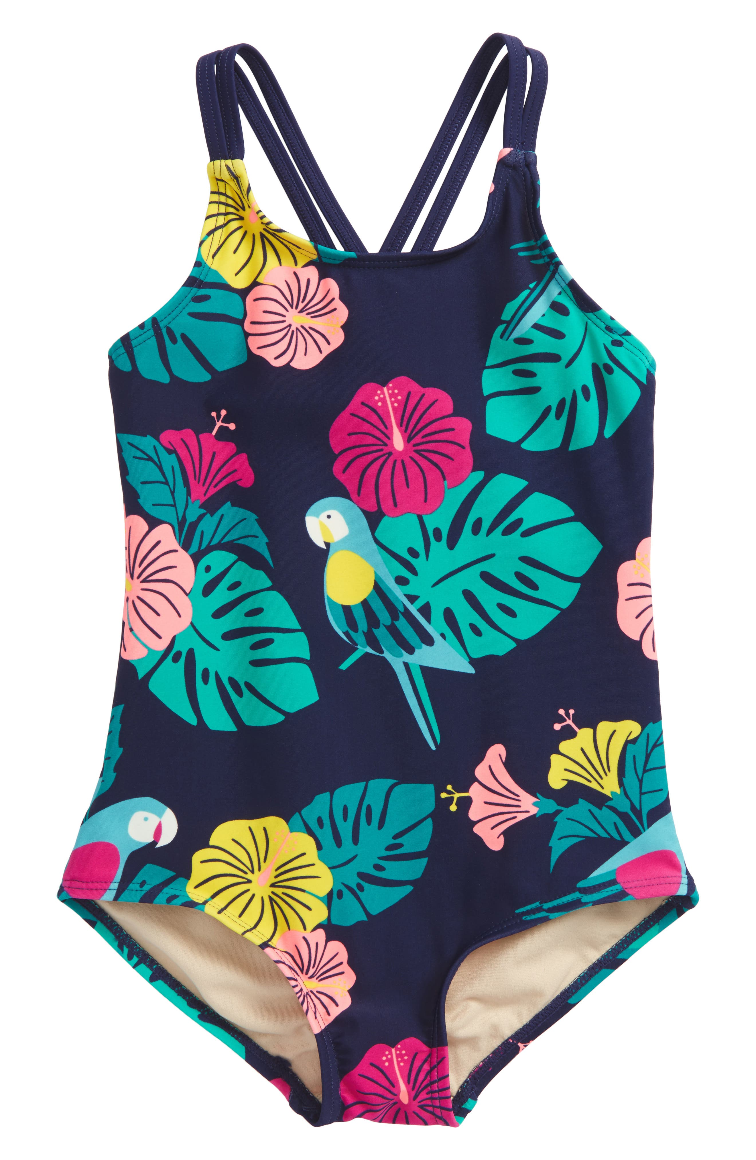 Strappy Back One-Piece Swimsuit,                             Main thumbnail 2, color,