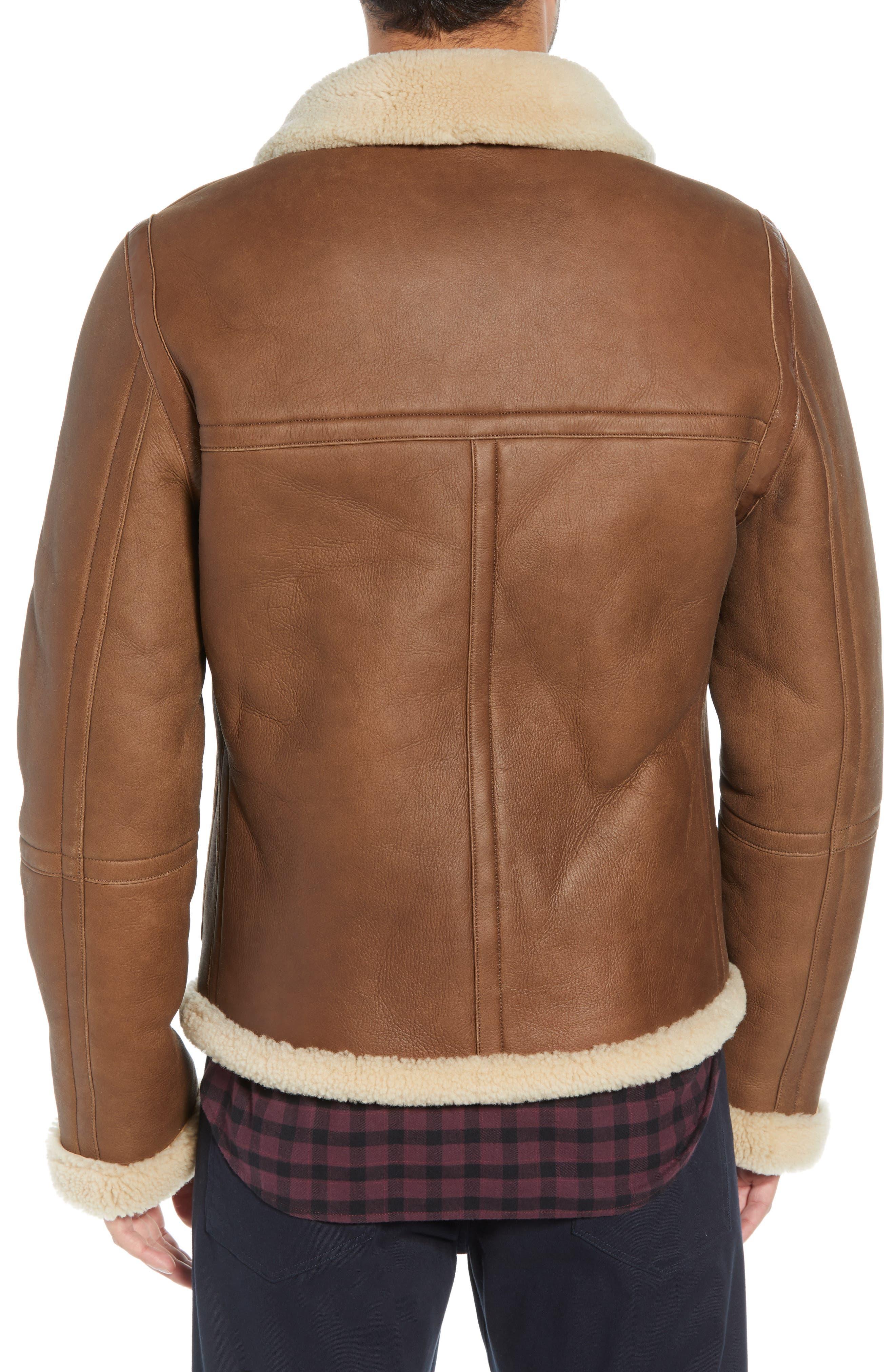 Reversible Genuine Shearling Jacket,                             Alternate thumbnail 3, color,                             117
