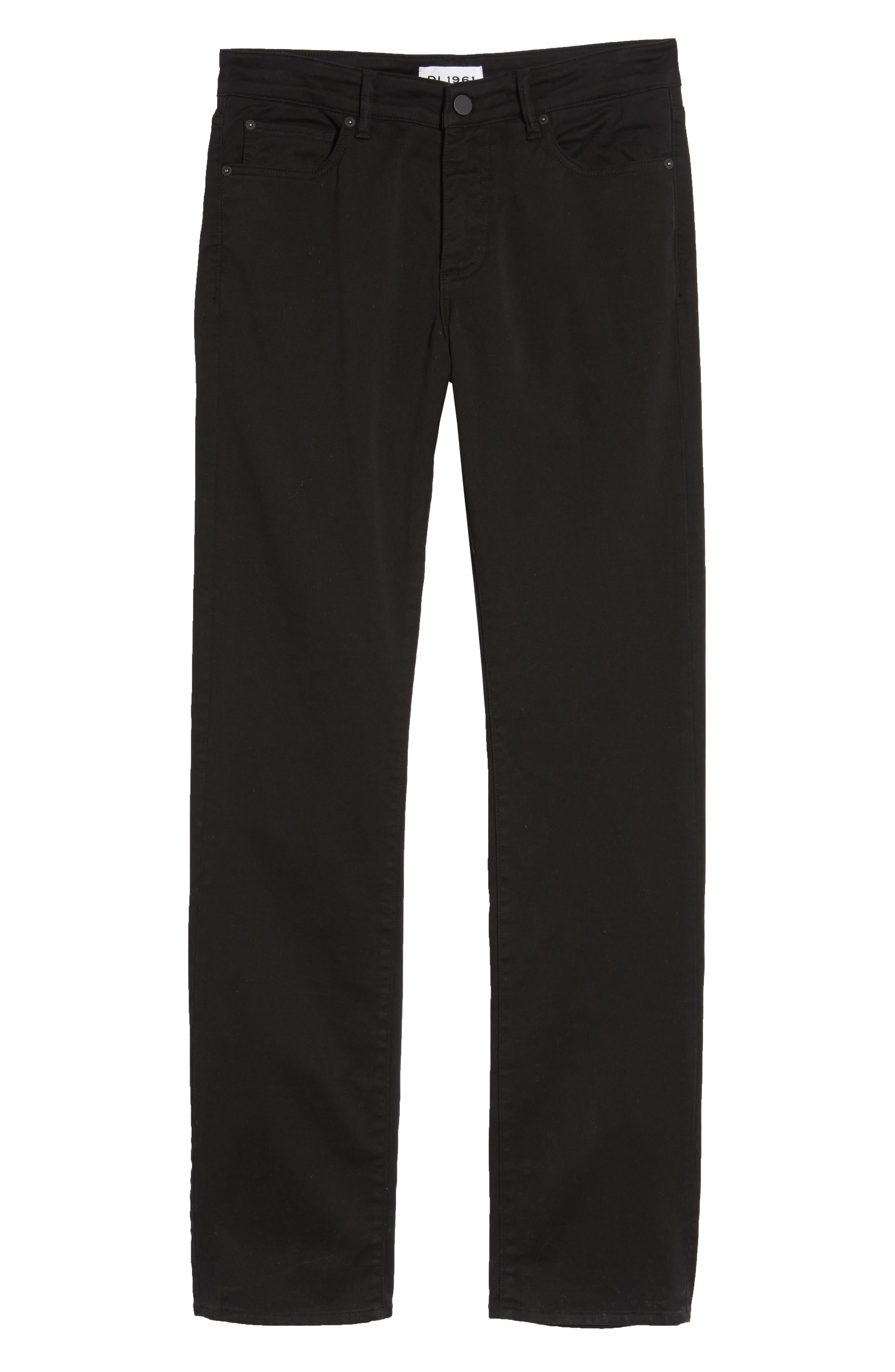 Avery Slim Straight Chino Pants,                             Alternate thumbnail 6, color,                             COAL