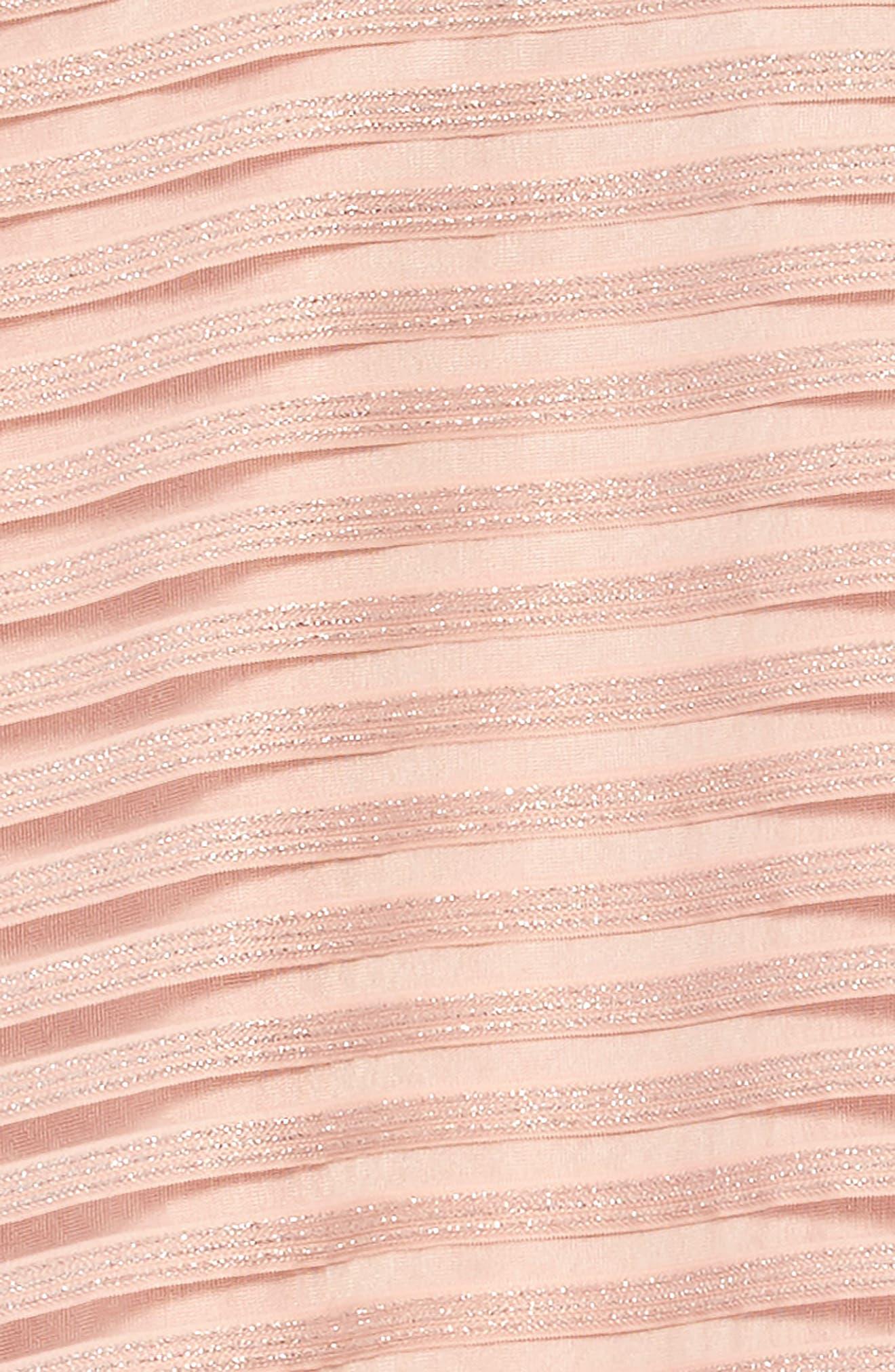 Shadow Stripe Mesh Skater Dress,                             Alternate thumbnail 3, color,                             650