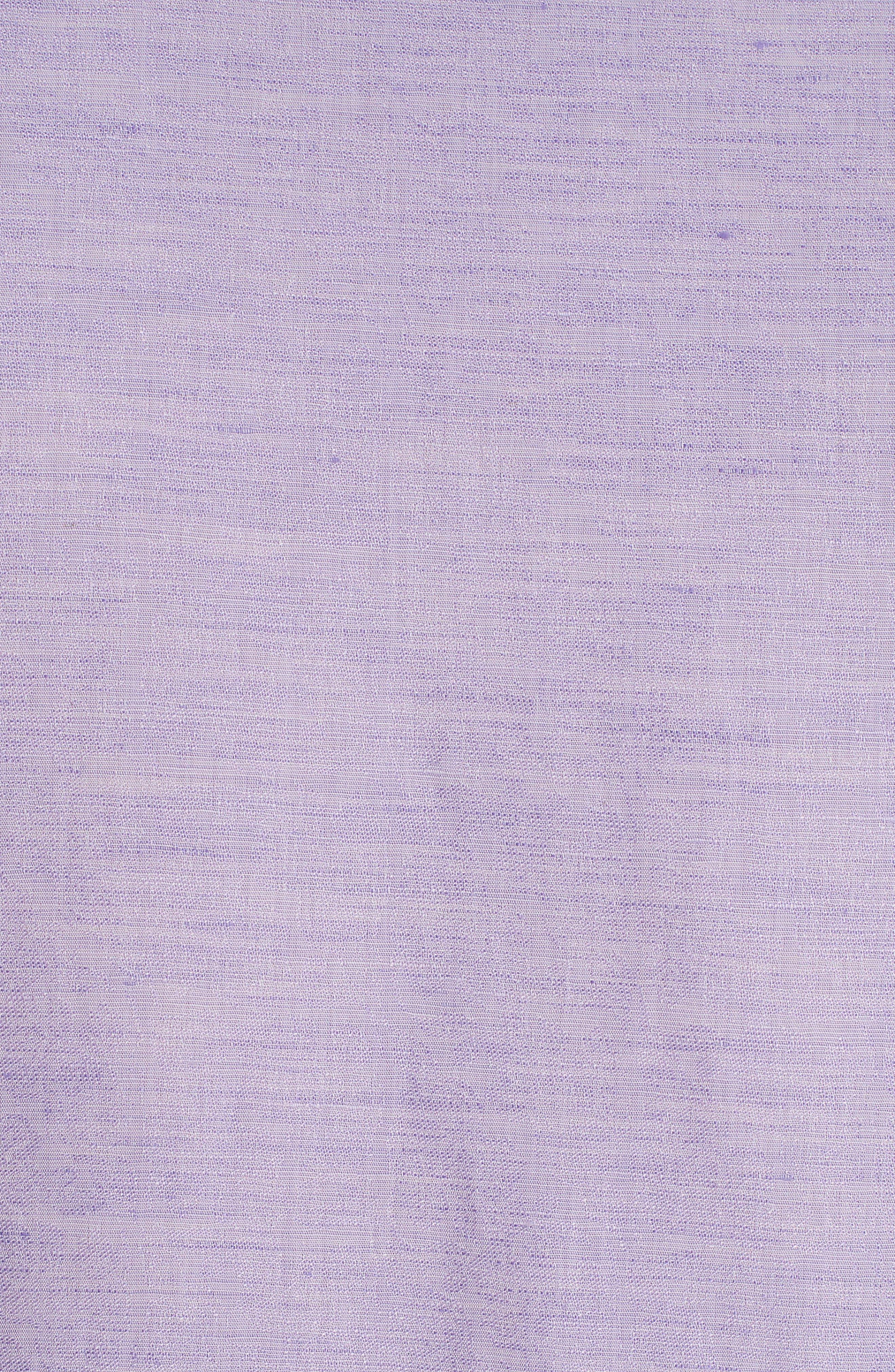 Cyprus Classic Fit Linen & Cotton Sport Shirt,                             Alternate thumbnail 4, color,                             PURPLE