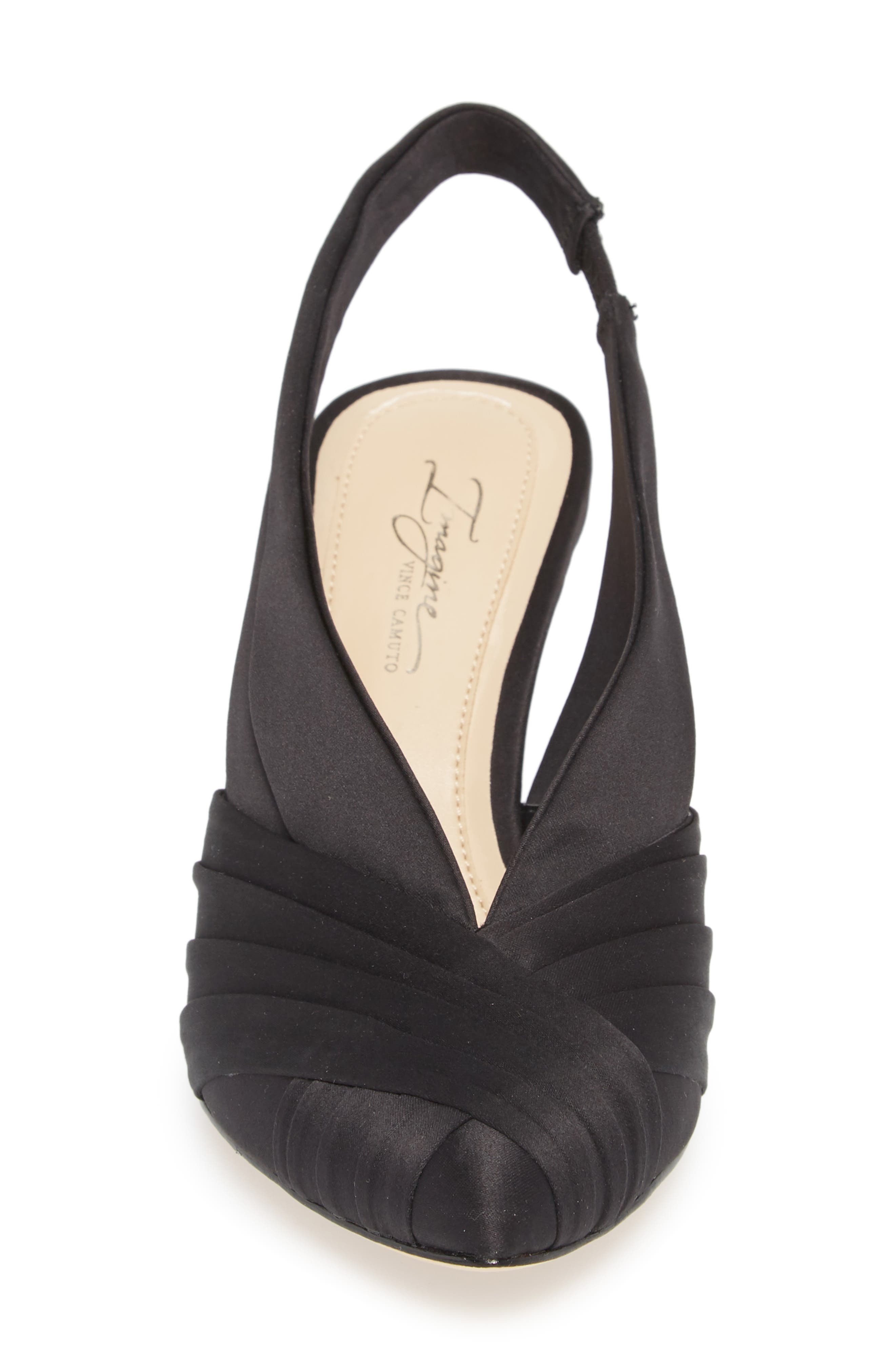 Melkia Pump,                             Alternate thumbnail 4, color,                             BLACK SATIN