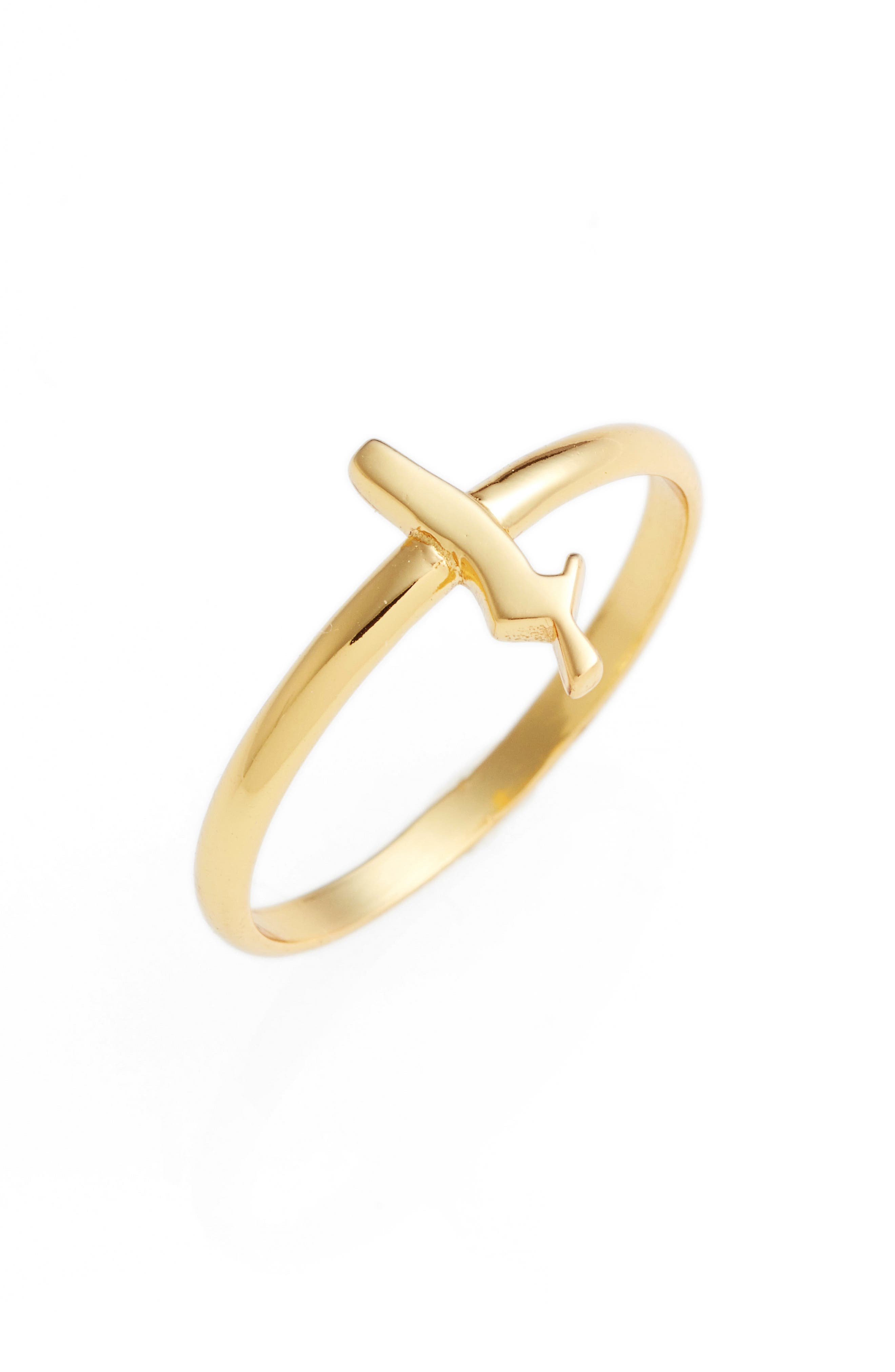 Gothic Initial Ring,                             Main thumbnail 21, color,