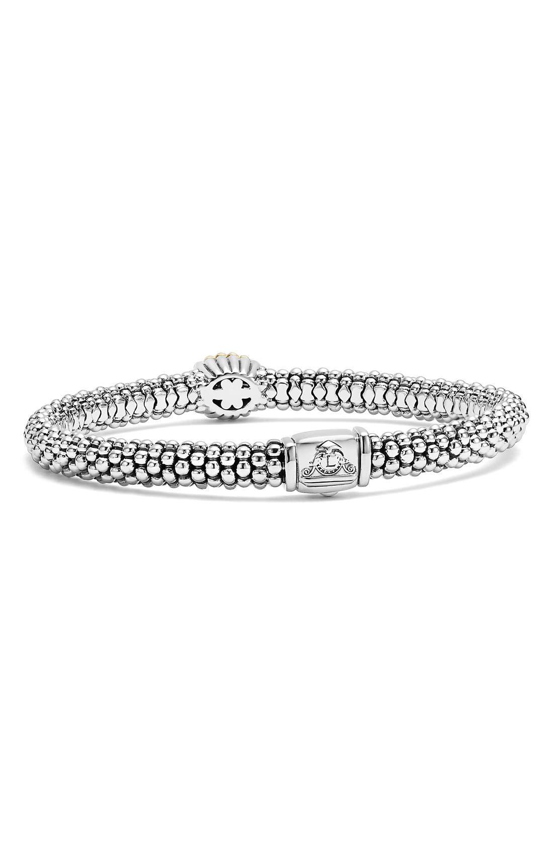 Diamond Caviar Oval Bracelet,                             Alternate thumbnail 4, color,                             040
