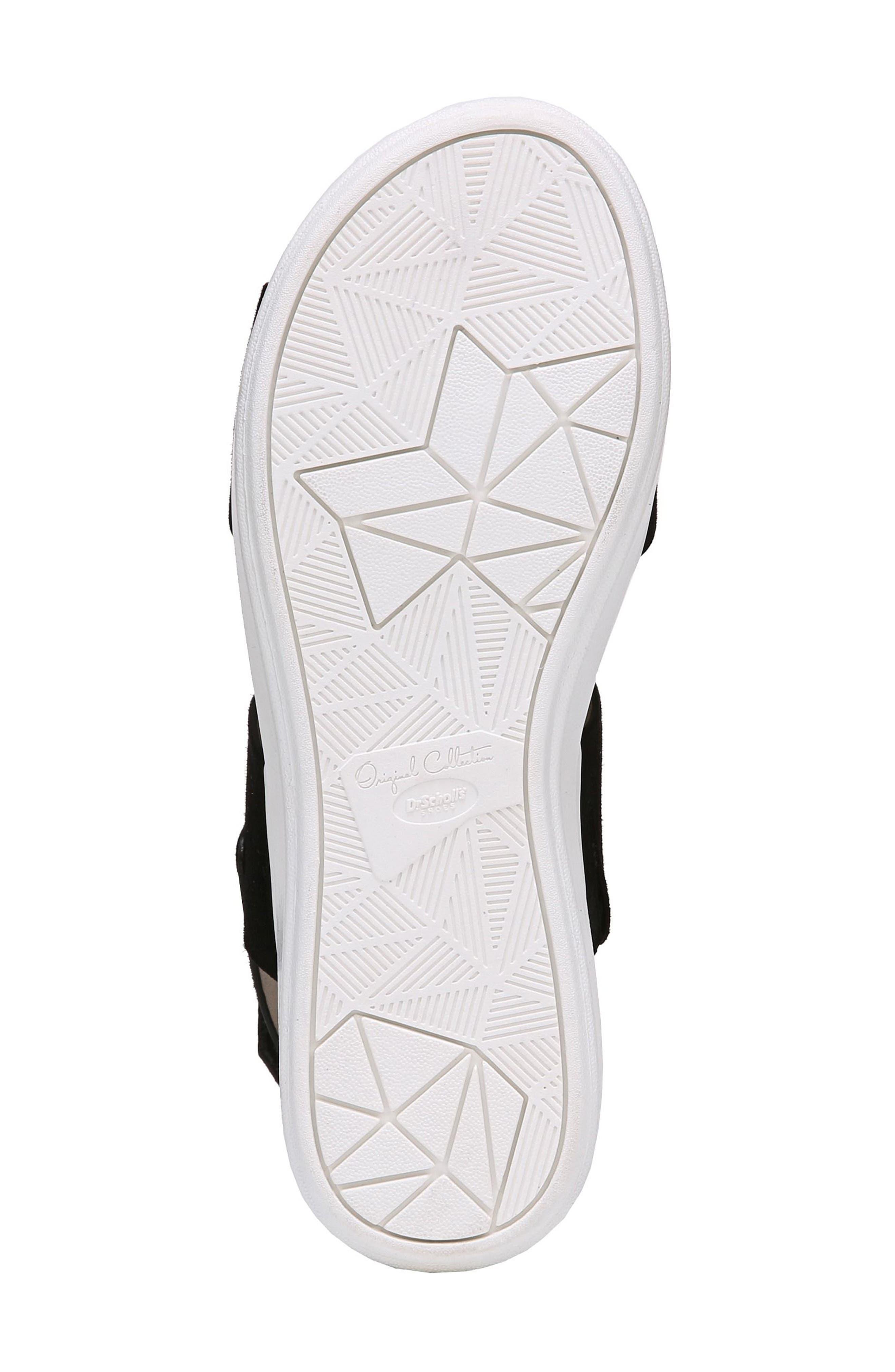 Scout Platform Sandal,                             Alternate thumbnail 6, color,                             BLACK SUEDE