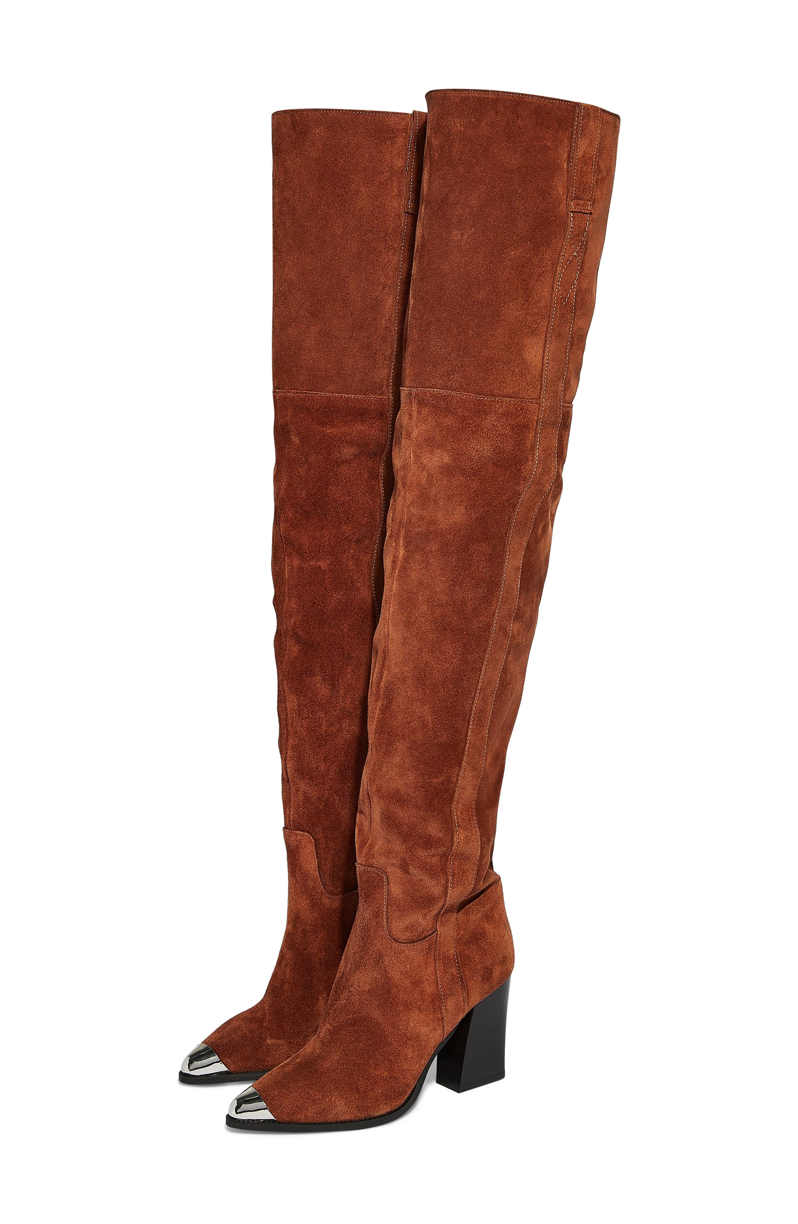 Topshop Bass Chain Over The Knee Boot