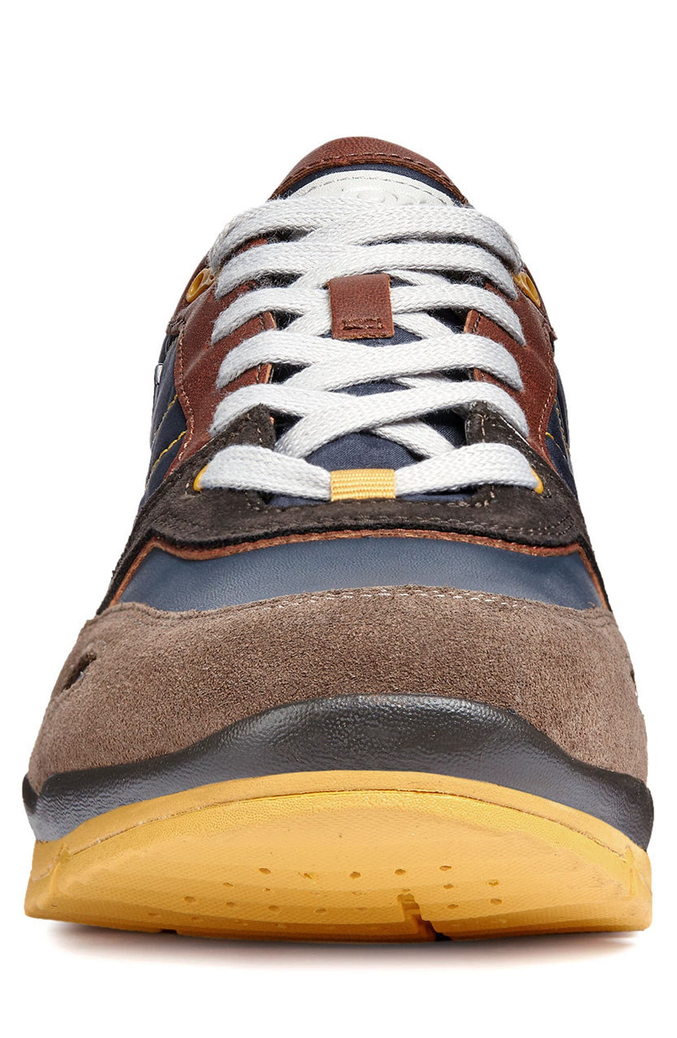 Sandford ABX 1 Waterproof Low Top Sneaker,                             Alternate thumbnail 4, color,                             CHOCOLATE/ NAVY LEATHER