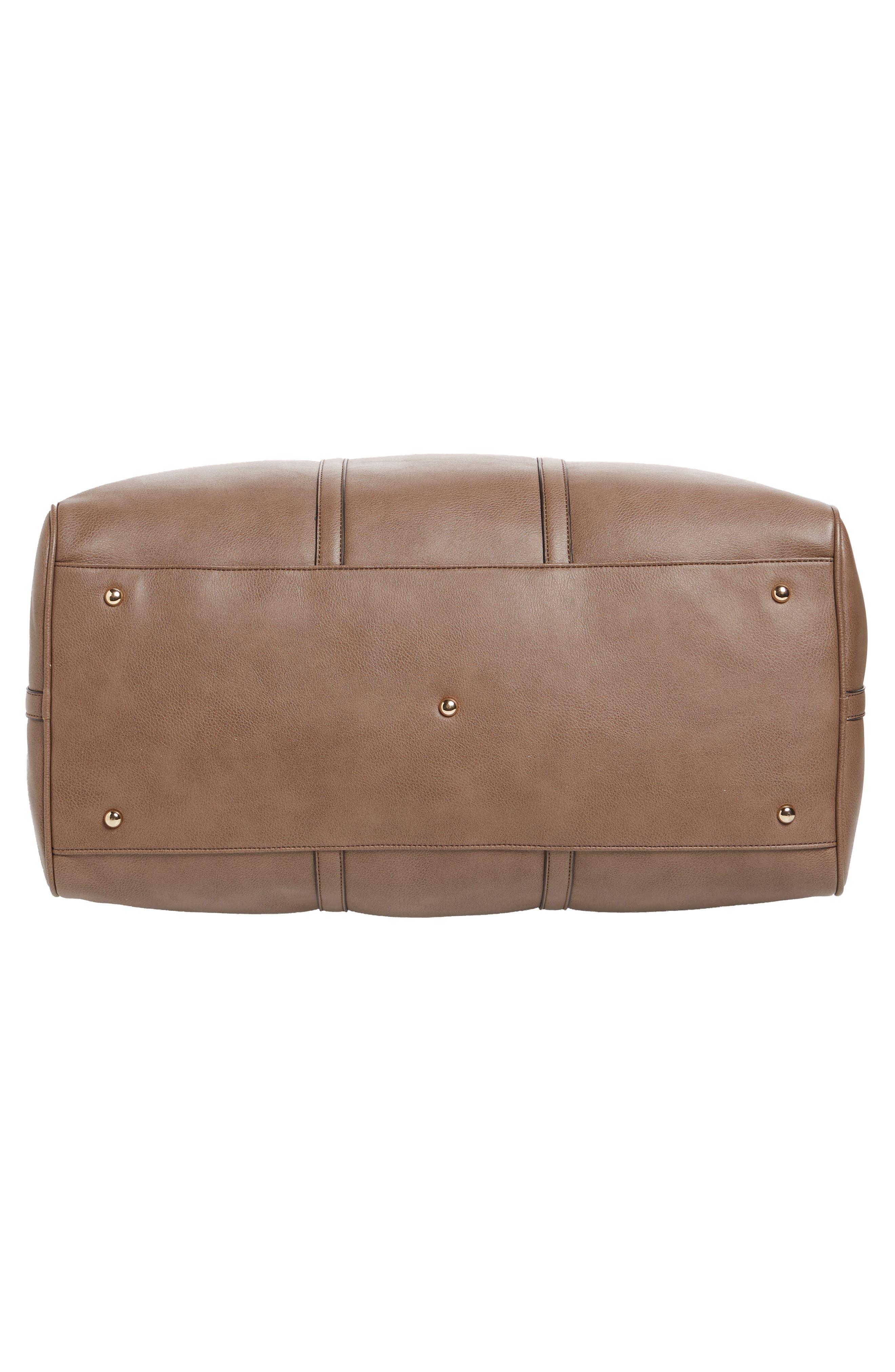 'Lacie' Faux Leather Duffel Bag,                             Alternate thumbnail 6, color,                             022